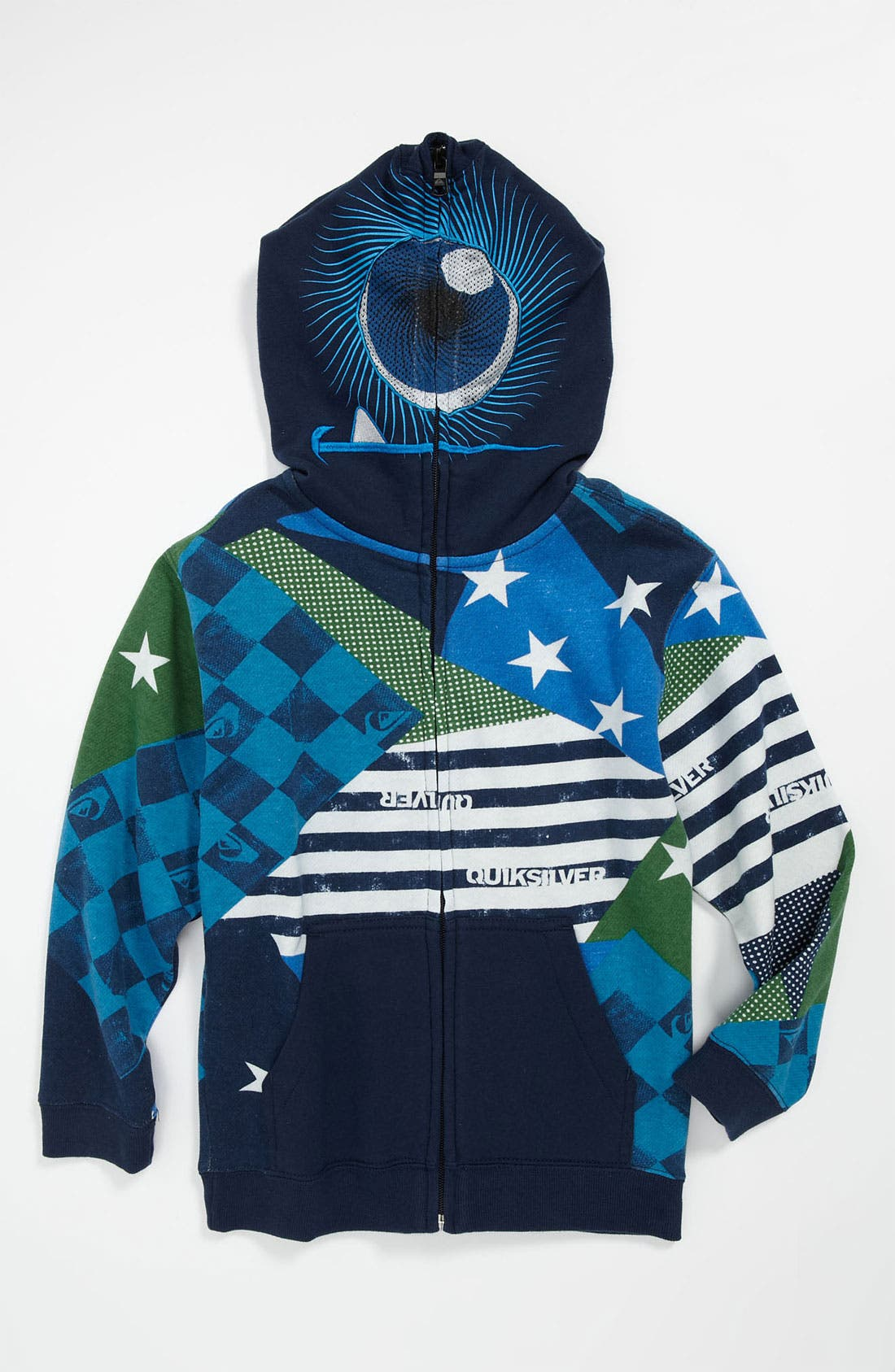Alternate Image 1 Selected - Quiksilver 'So Sick' Mask Hoodie (Little Boys)