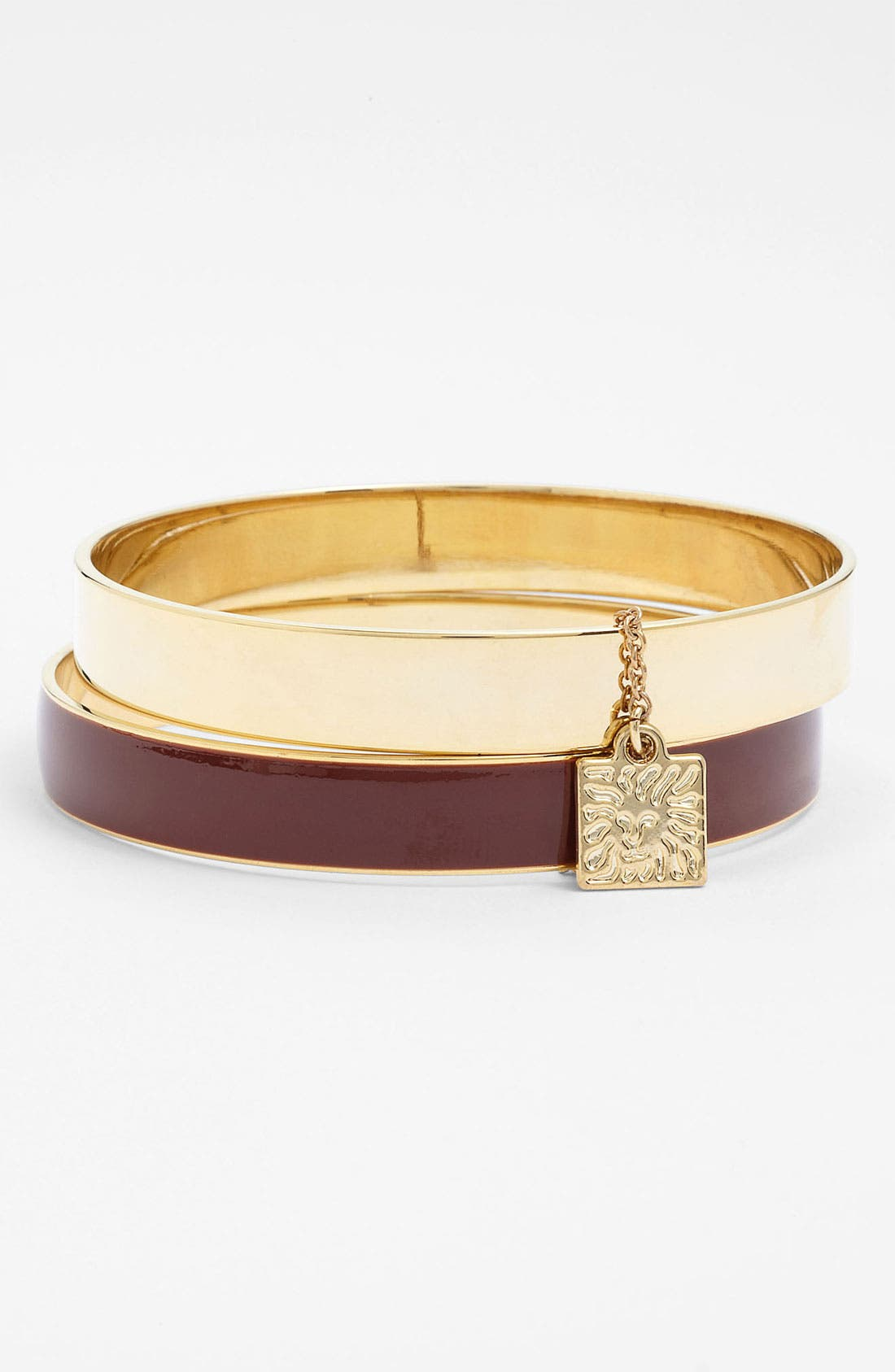Main Image - Anne Klein Enamel Bangles (Set of 2)