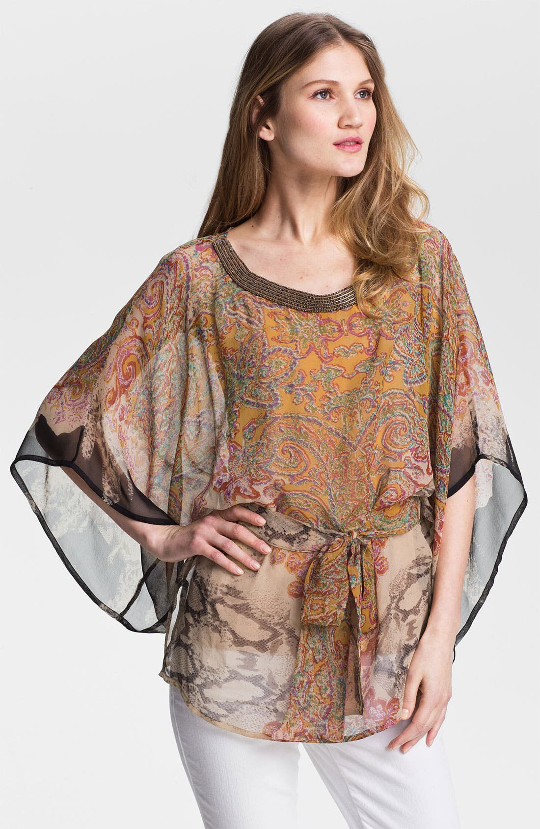 Alternate Image 1 Selected - Kay Celine Silk Chiffon Tunic