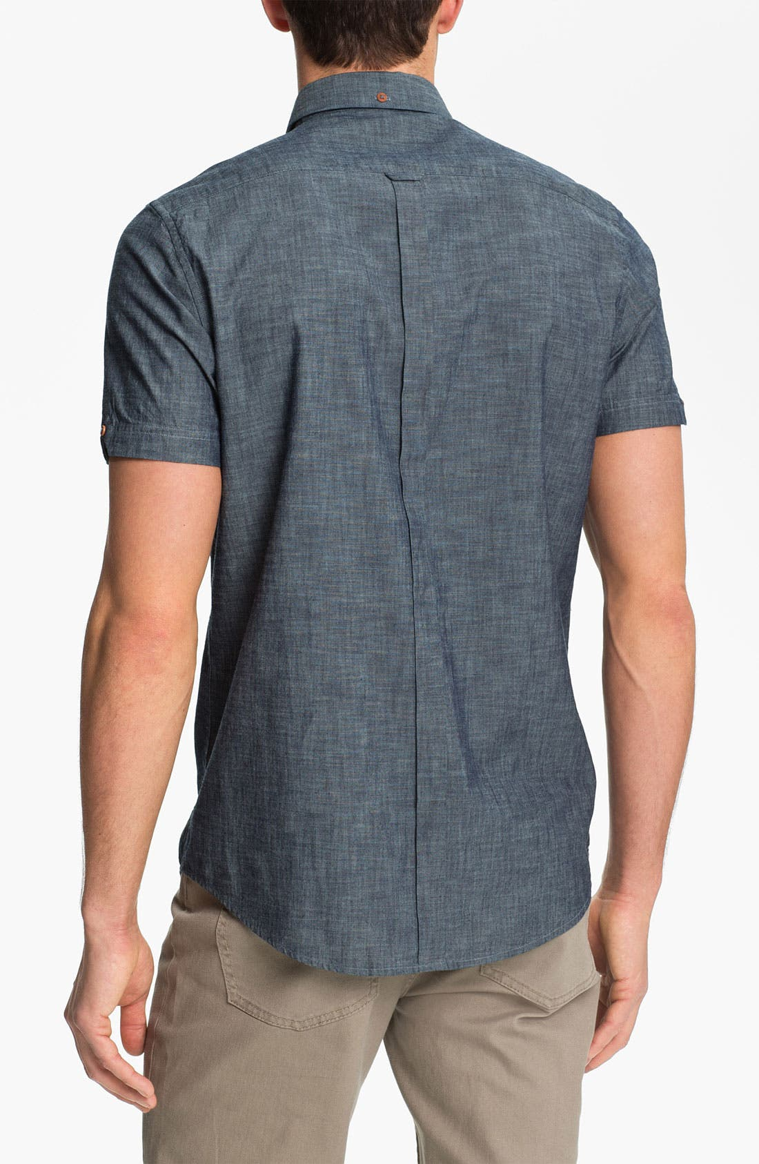Alternate Image 2  - Ben Sherman Short Sleeve Chambray Shirt
