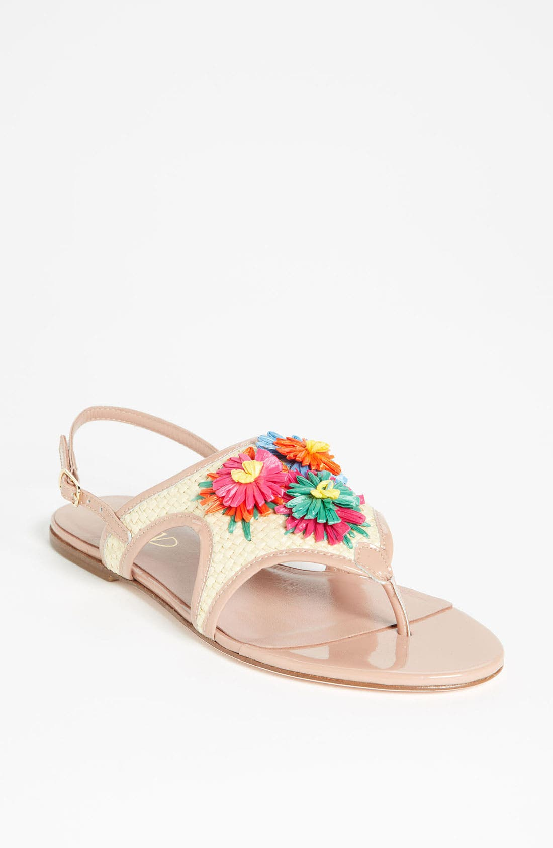 Alternate Image 1 Selected - RED Valentino Embroidered Sandal