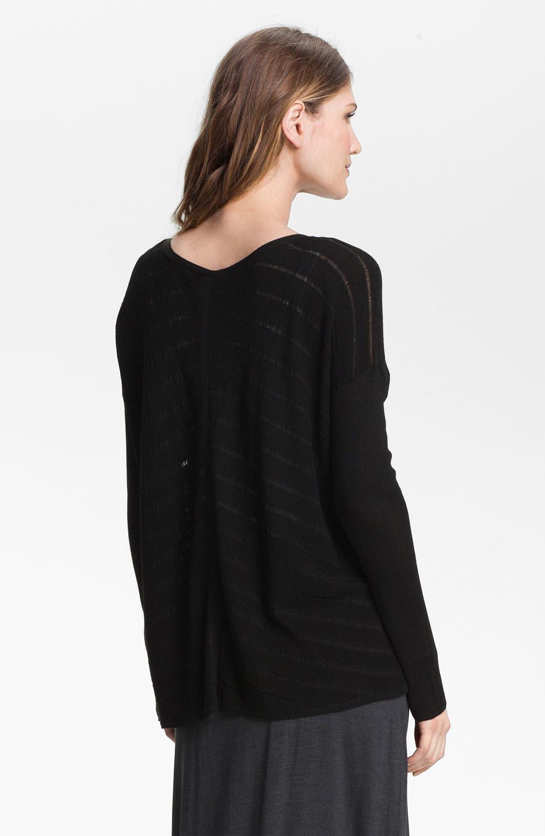 Alternate Image 2  - Eileen Fisher Stripe Knit V-Neck Top (Online Exclusive)