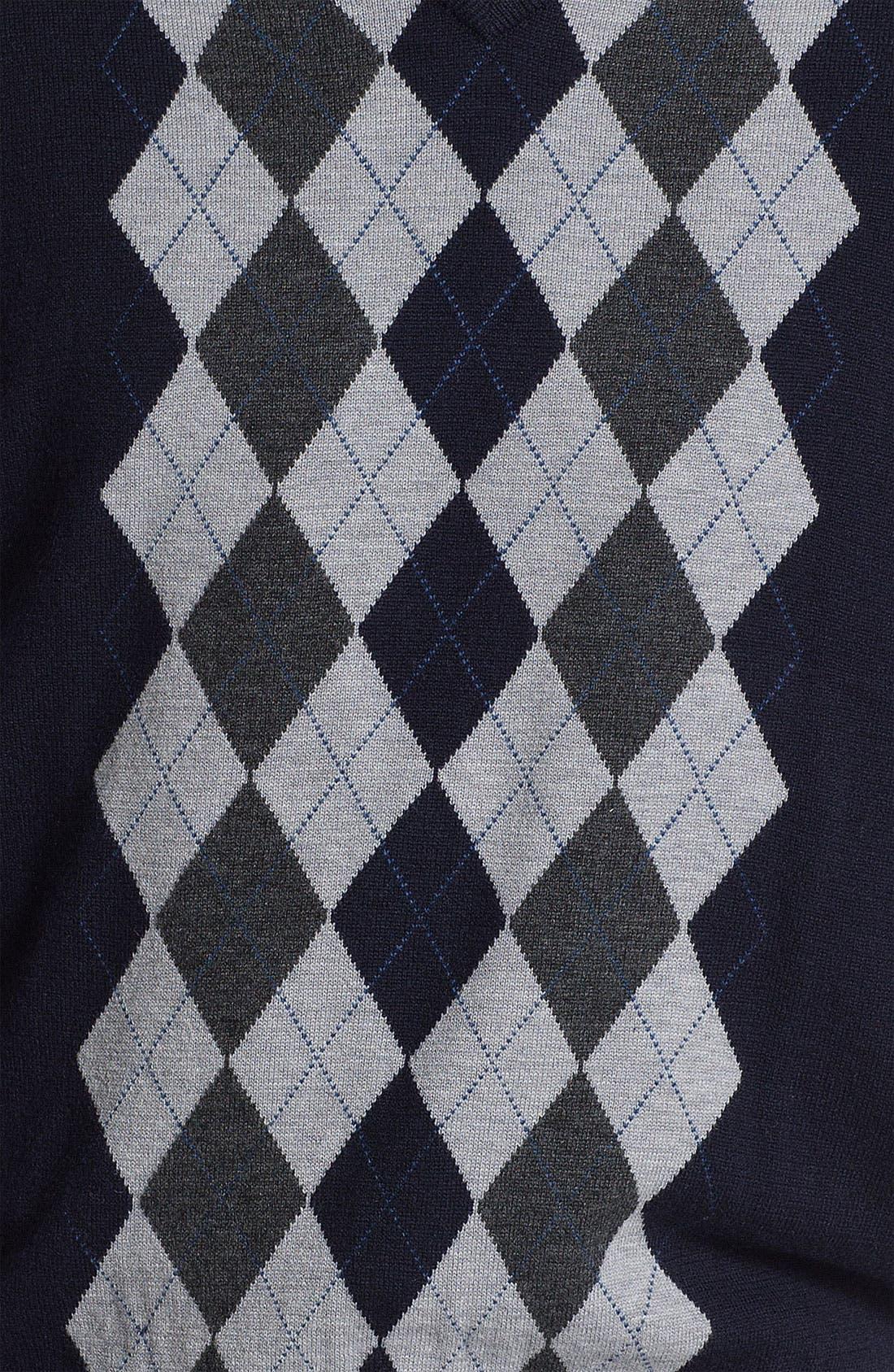 Alternate Image 3  - Toscano V-Neck Wool Blend Sweater Vest