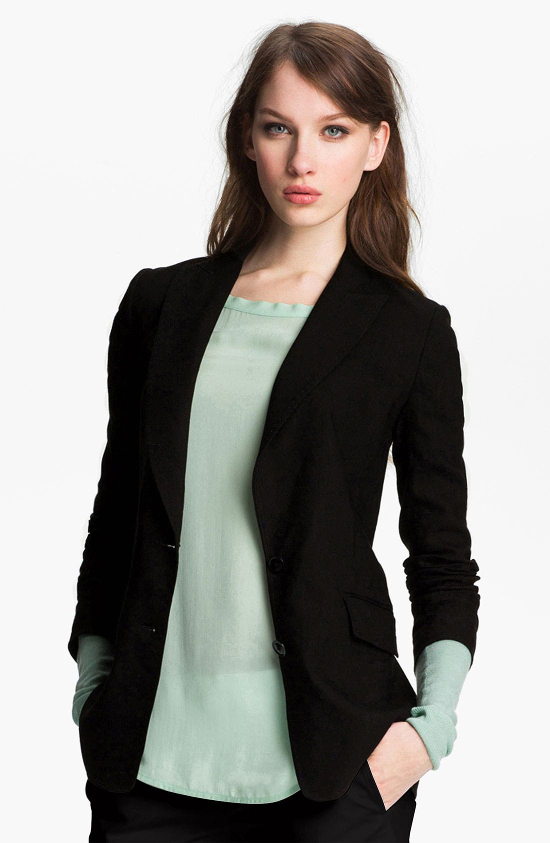 Alternate Image 1 Selected - Vince Linen Blend Blazer