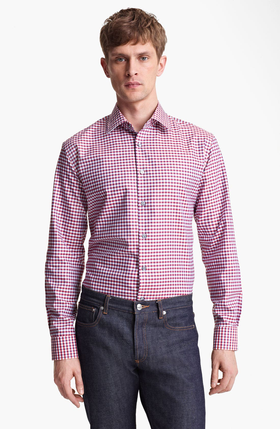 Alternate Image 1 Selected - Paul Smith London Multi Gingham Shirt