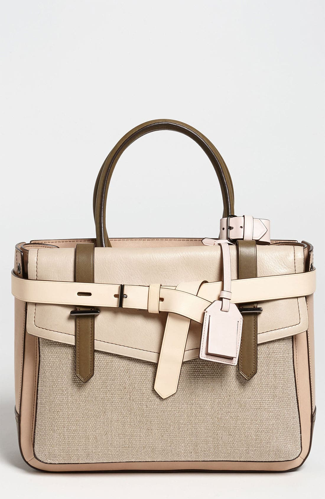 Alternate Image 1 Selected - Reed Krakoff 'Boxer' Colorblocked Leather Satchel