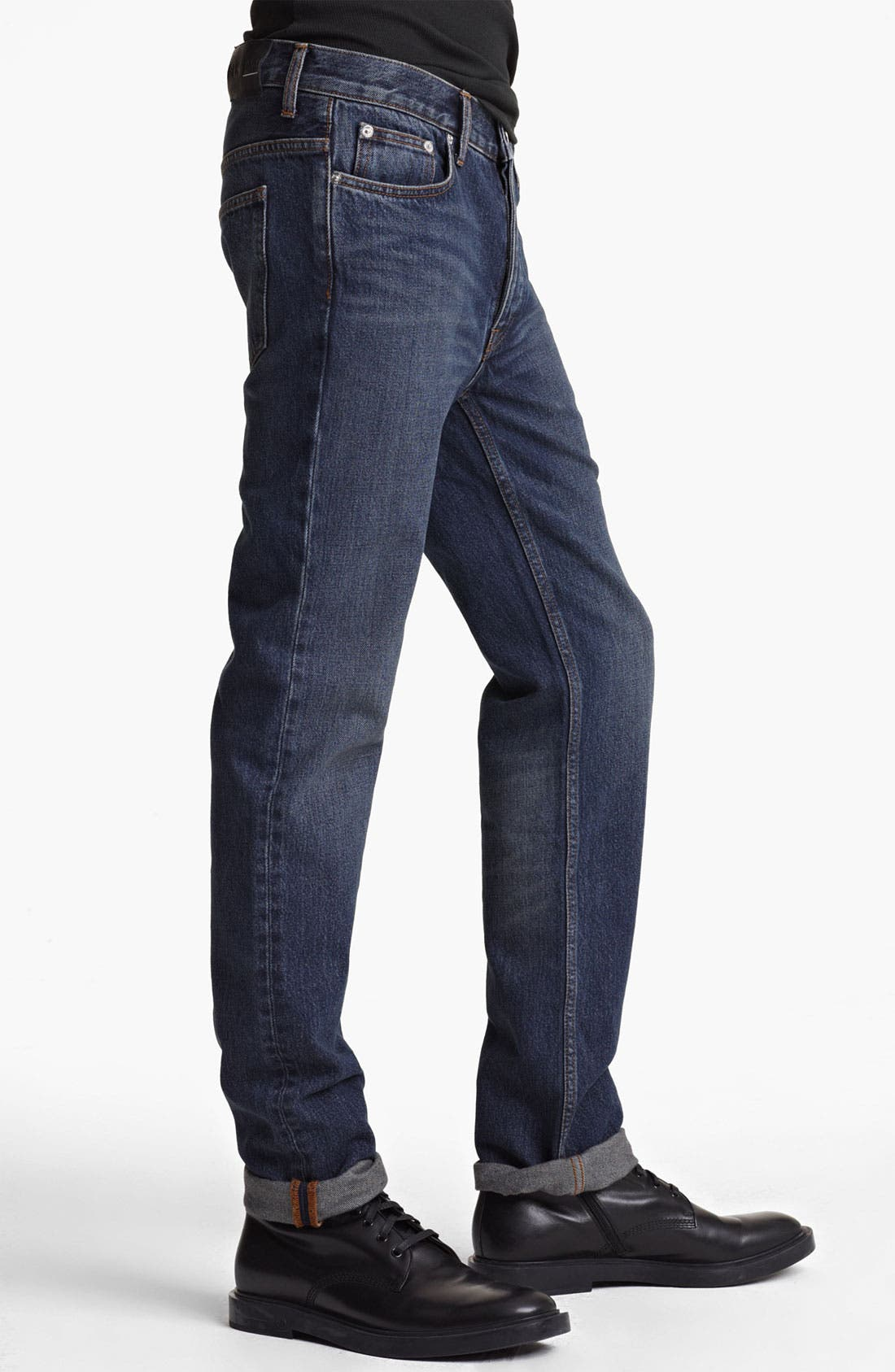 Alternate Image 3  - BLK DNM 'Jeans 9' Straight Leg Jeans (Stone Blue)