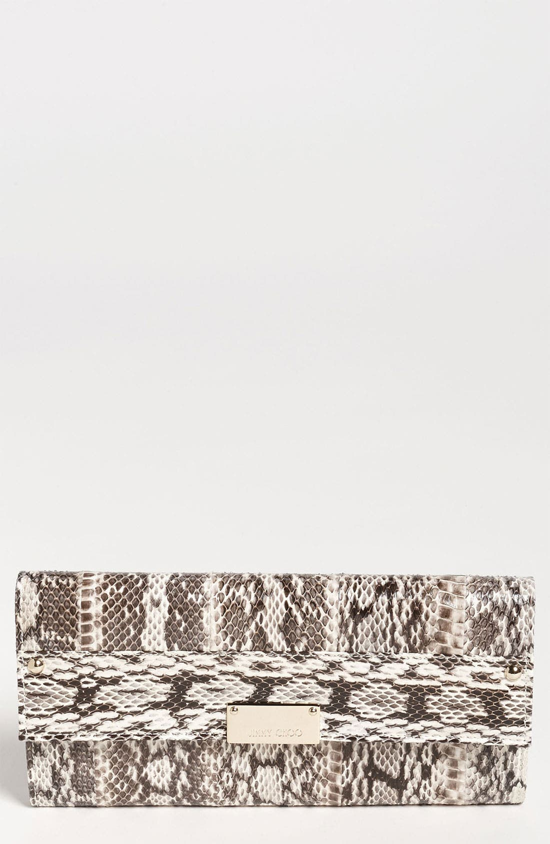 Main Image - Jimmy Choo 'Reese' Genuine Snakeskin Clutch