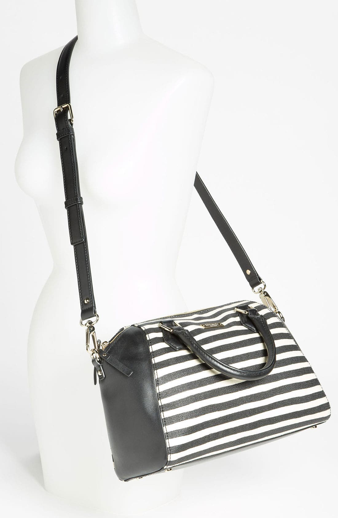 Alternate Image 2  - kate spade new york 'catherine street - pippa' stripe satchel