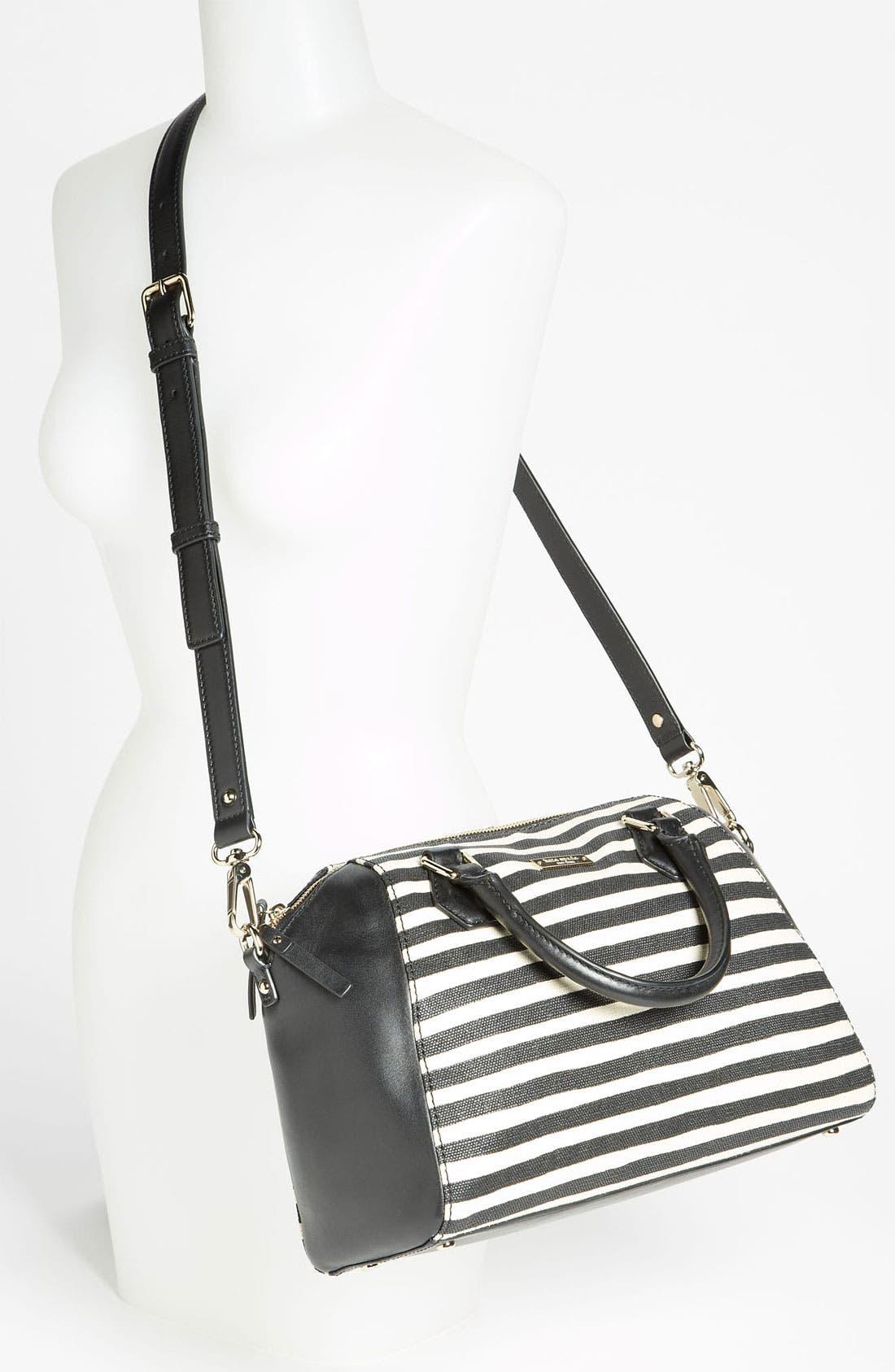 Alternate Image 2  - kate spade new york 'catherine street - pippa' stripe satchel