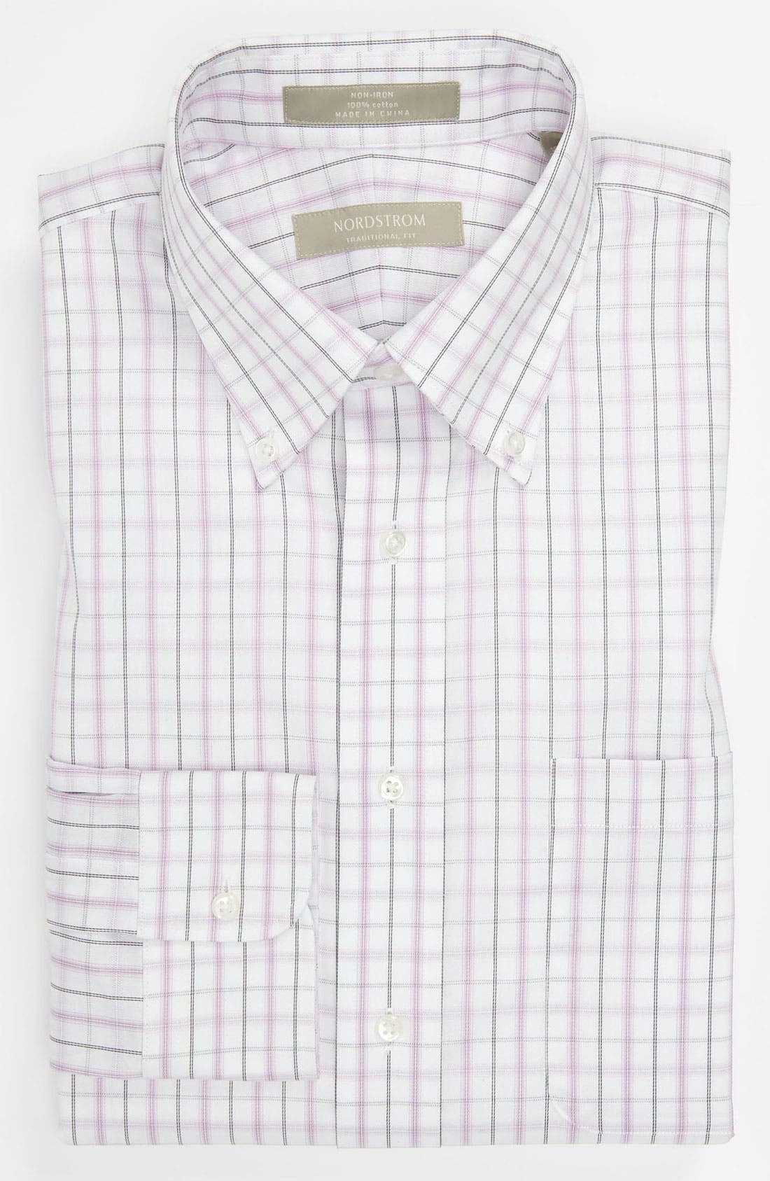 Main Image - Nordstrom Non-Iron Traditional Fit Dress Shirt (Online Only)