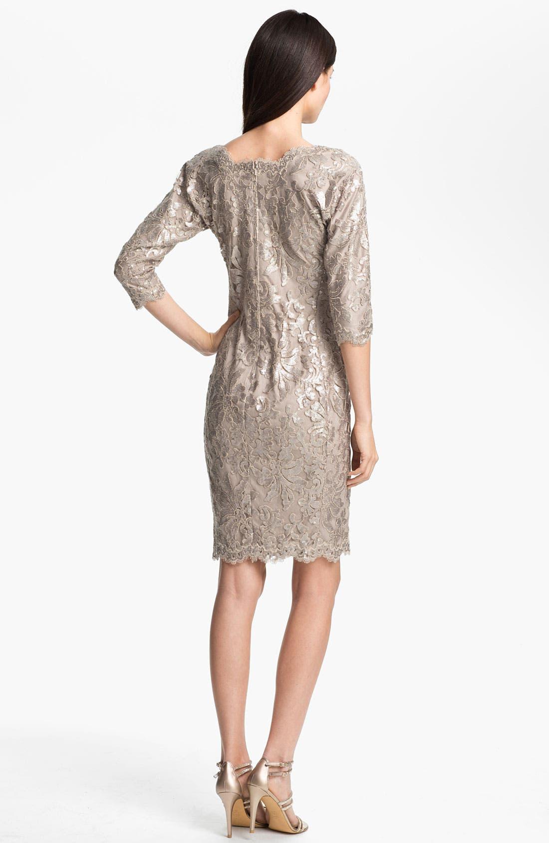 Alternate Image 2  - Tadashi Shoji Sequin Lace Dress