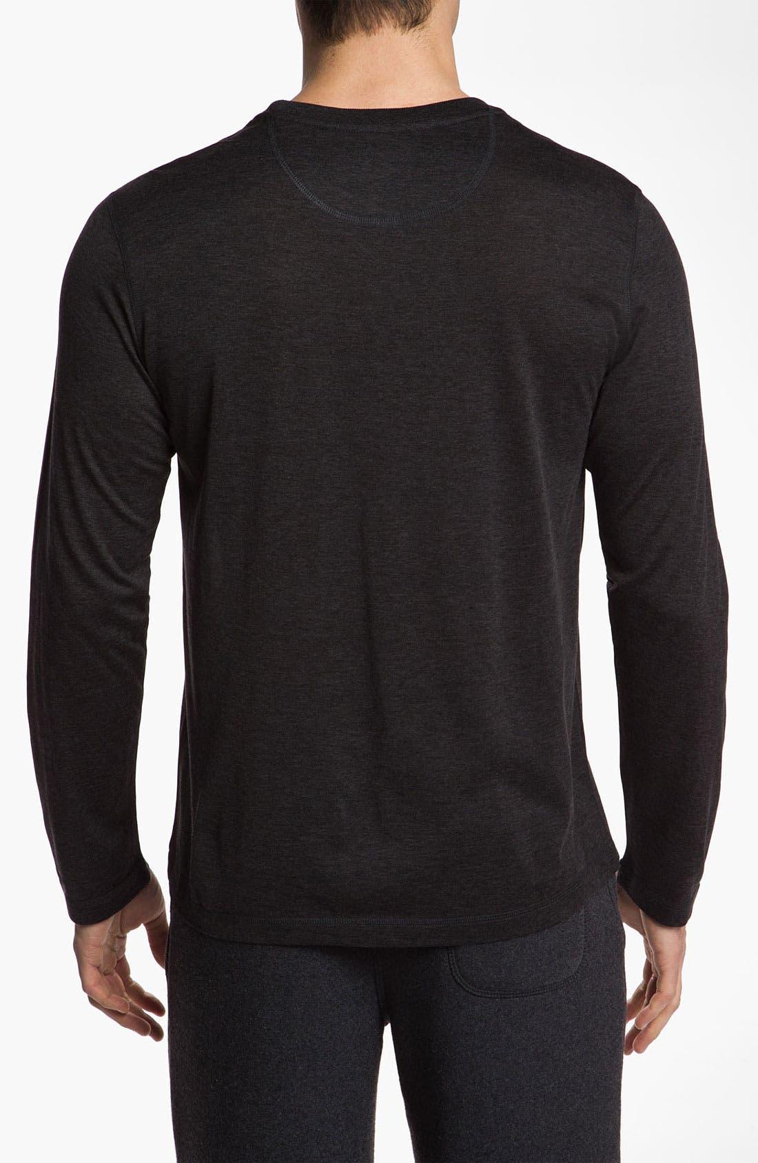 Alternate Image 2  - Daniel Buchler Silk & Cotton Long Sleeve T-Shirt