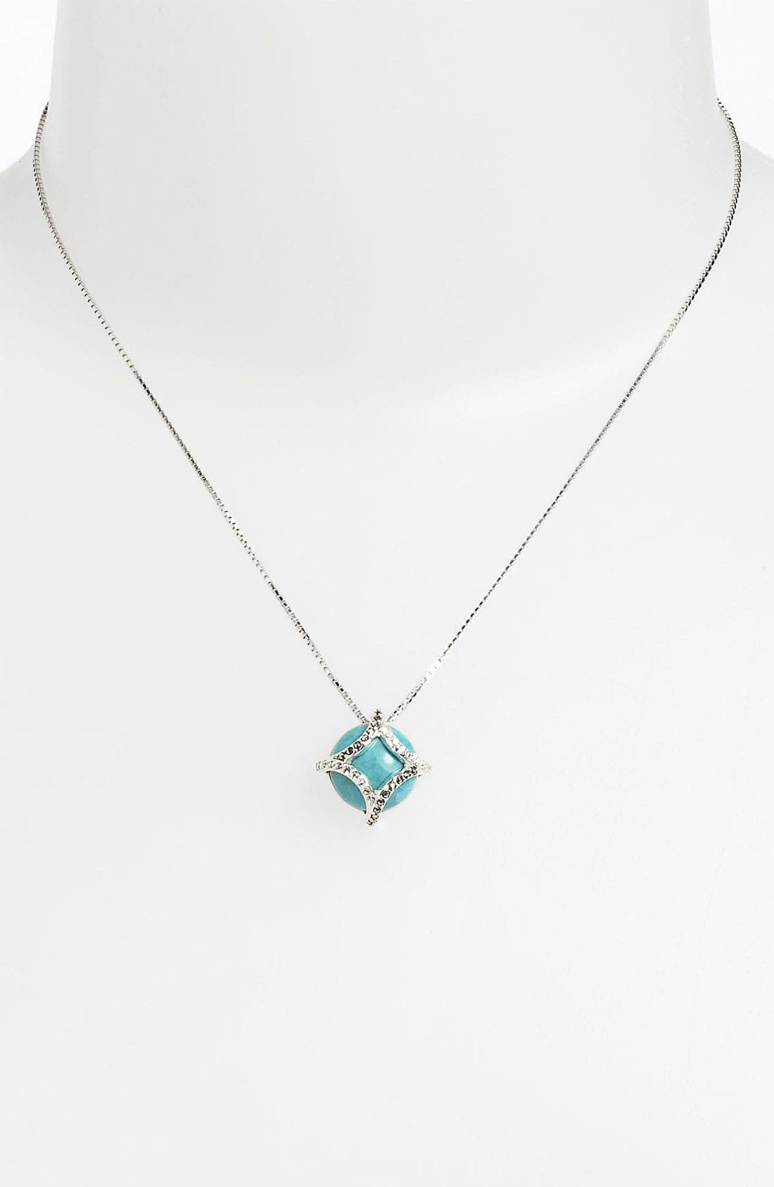 Alternate Image 1 Selected - Judith Jack 'Turq Matrix' Small Pendant Necklace