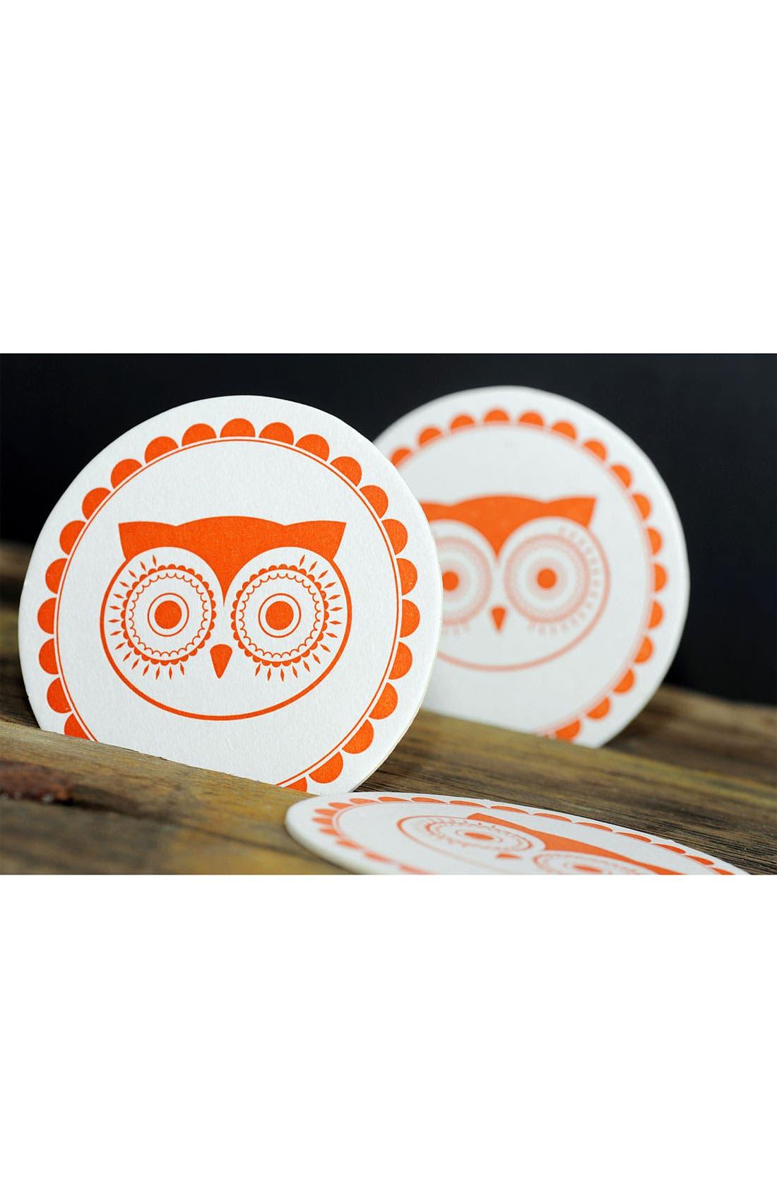 Alternate Image 2  - 'Vintage Owl' Coasters (Set of 10)