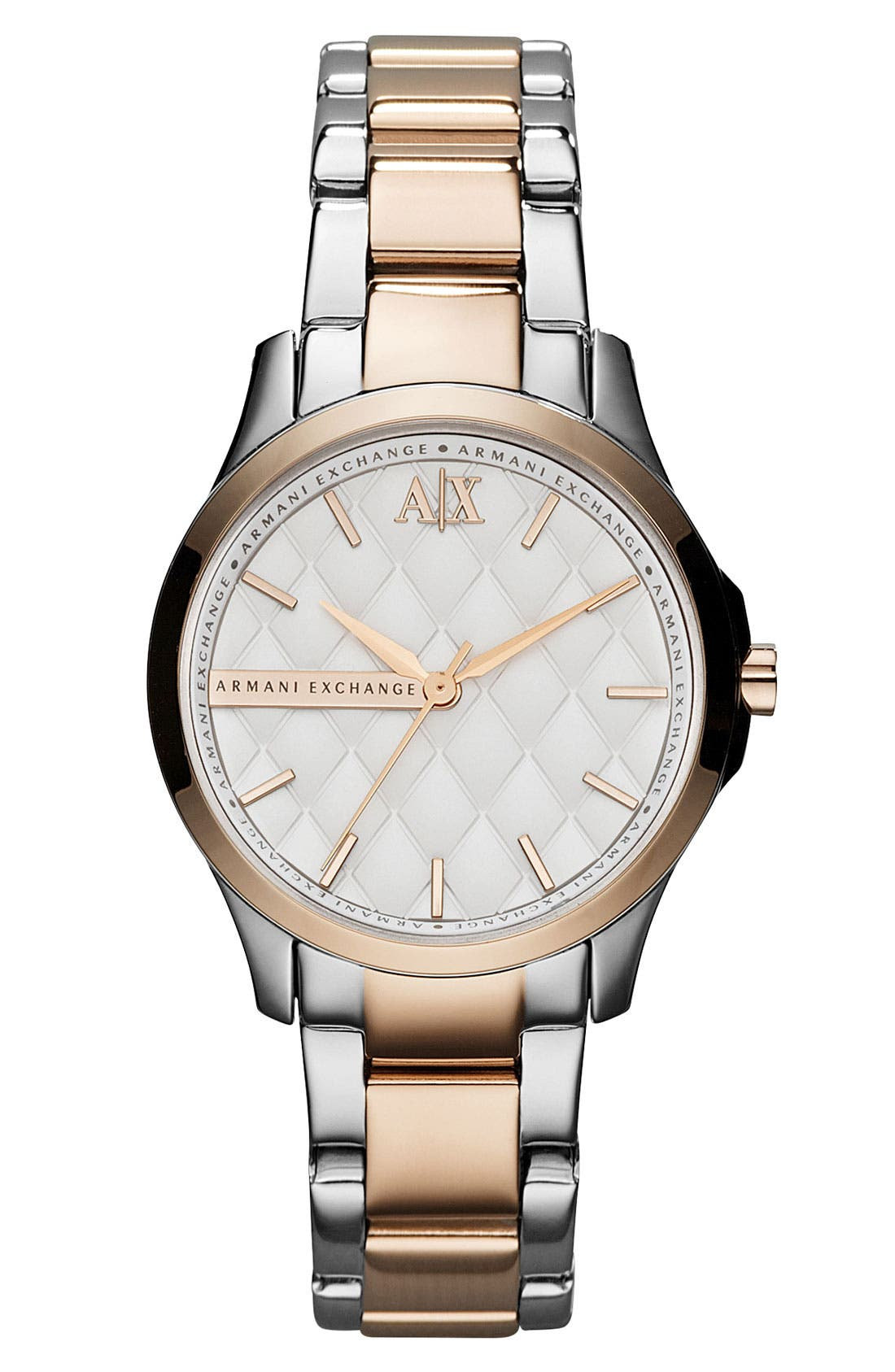 Main Image - AX Armani Exchange Quilted Dial Bracelet Watch, 36mm (Online Only)