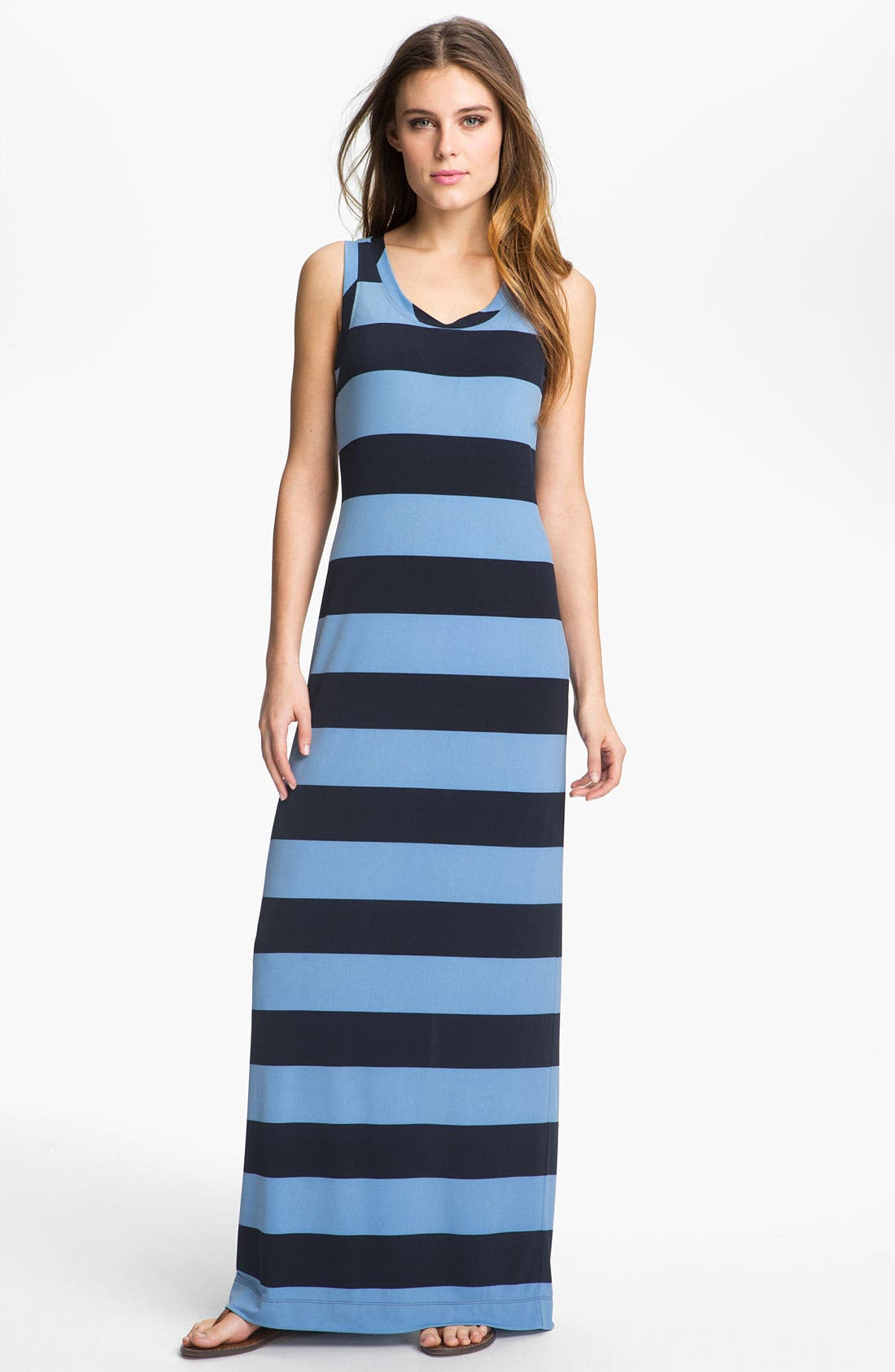 Main Image - Donna Morgan Sleeveless Stripe Maxi Dress