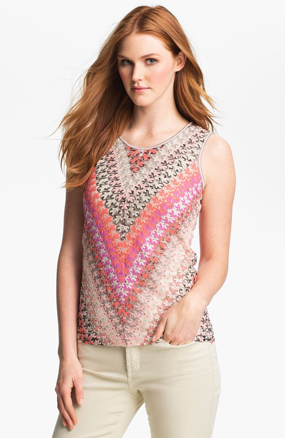 Alternate Image 1 Selected - Nic + Zoe Lace Weave Tank
