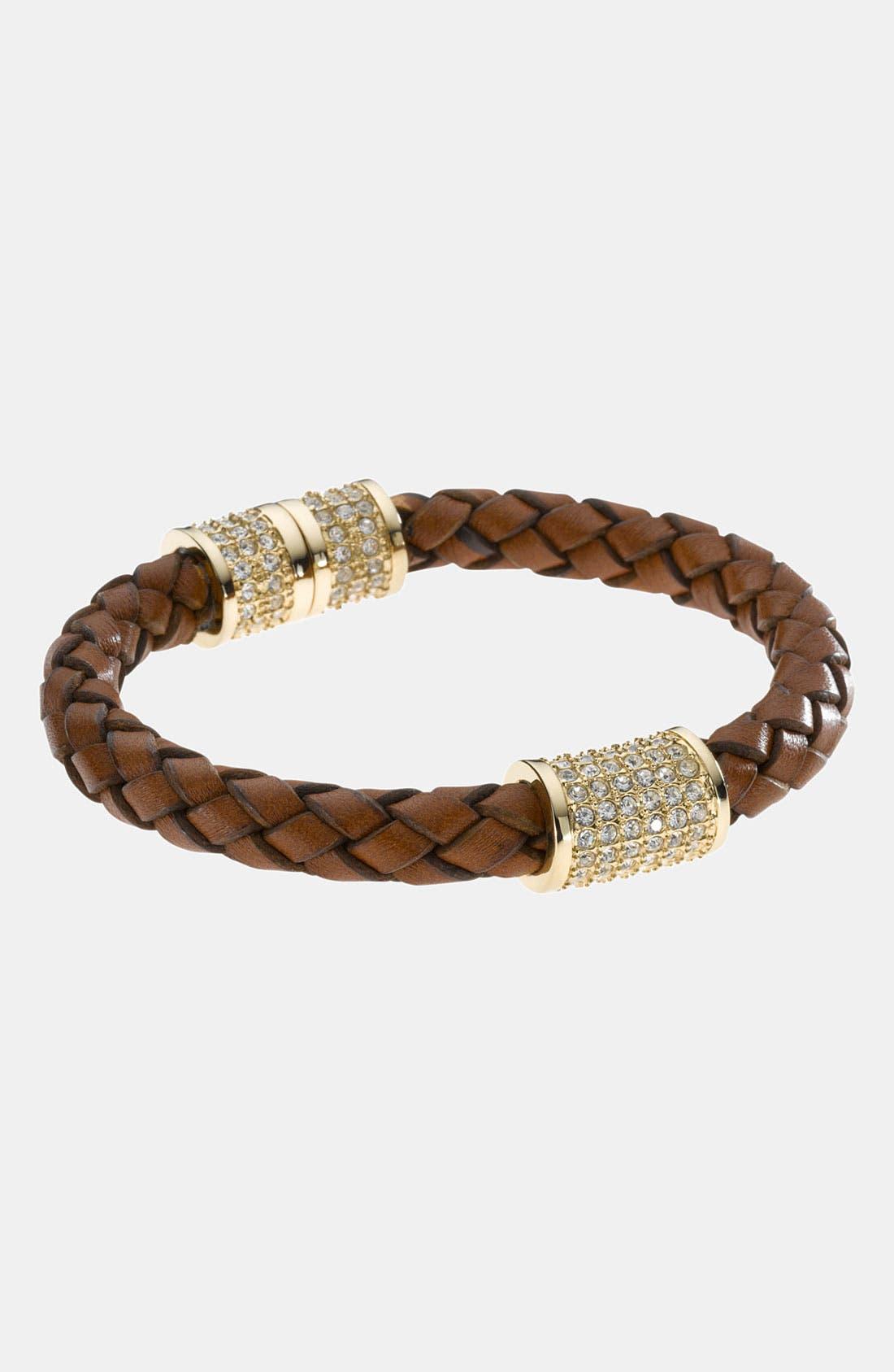 Main Image - Michael Kors 'Skorpios' Wide Leather Rope Bracelet