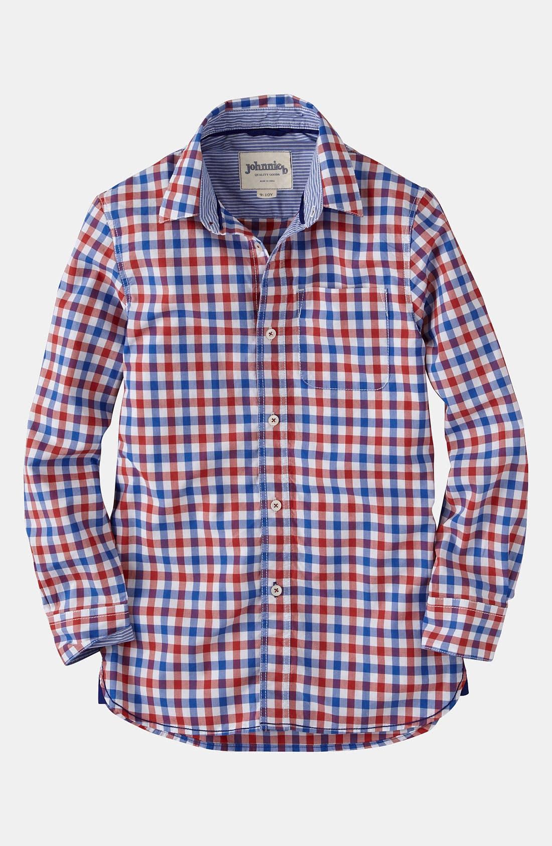 Main Image - Johnnie b Woven Shirt (Big Boys)