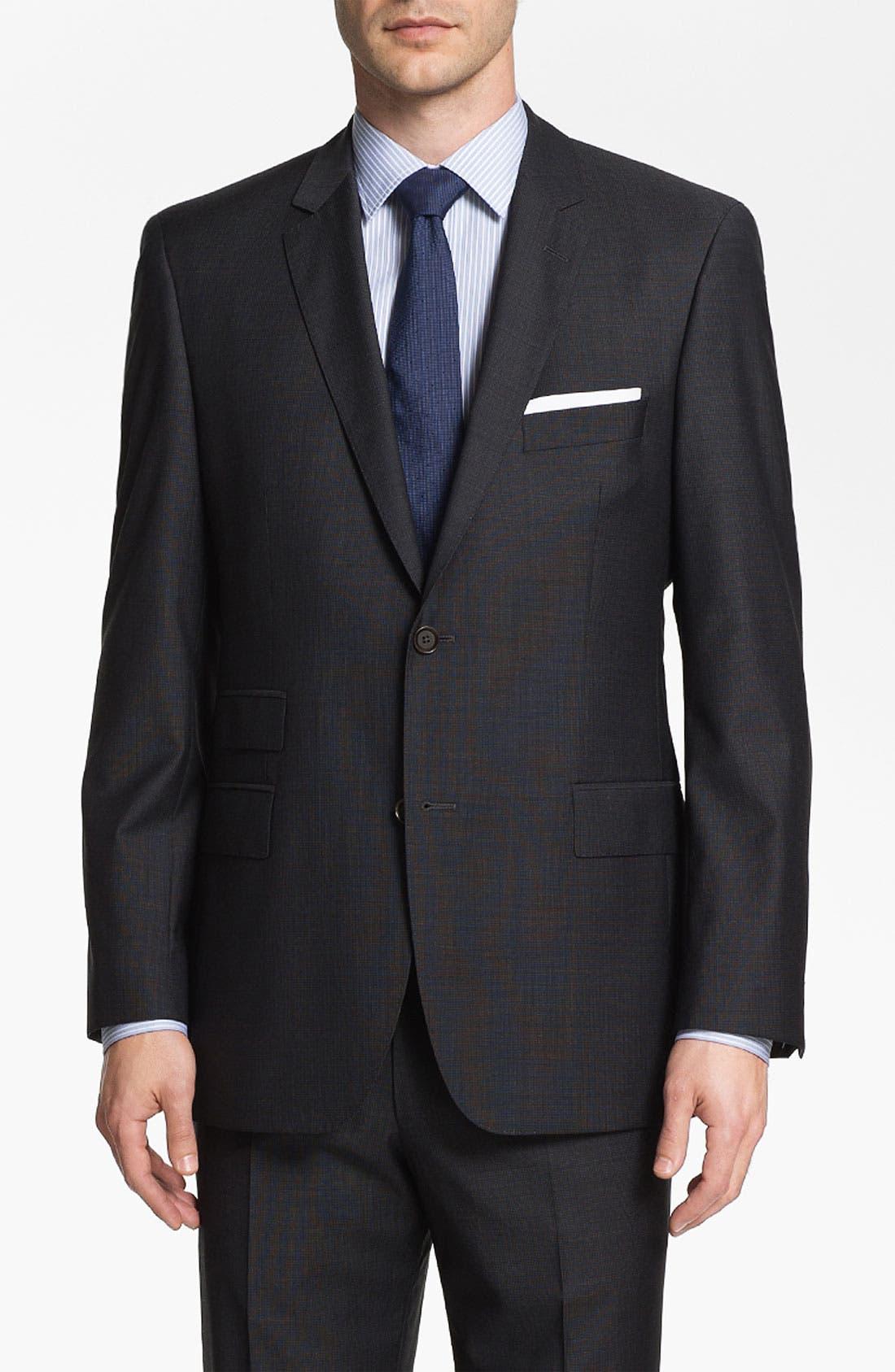 Alternate Image 1 Selected - BOSS Black 'Edison/Power' Wool Suit