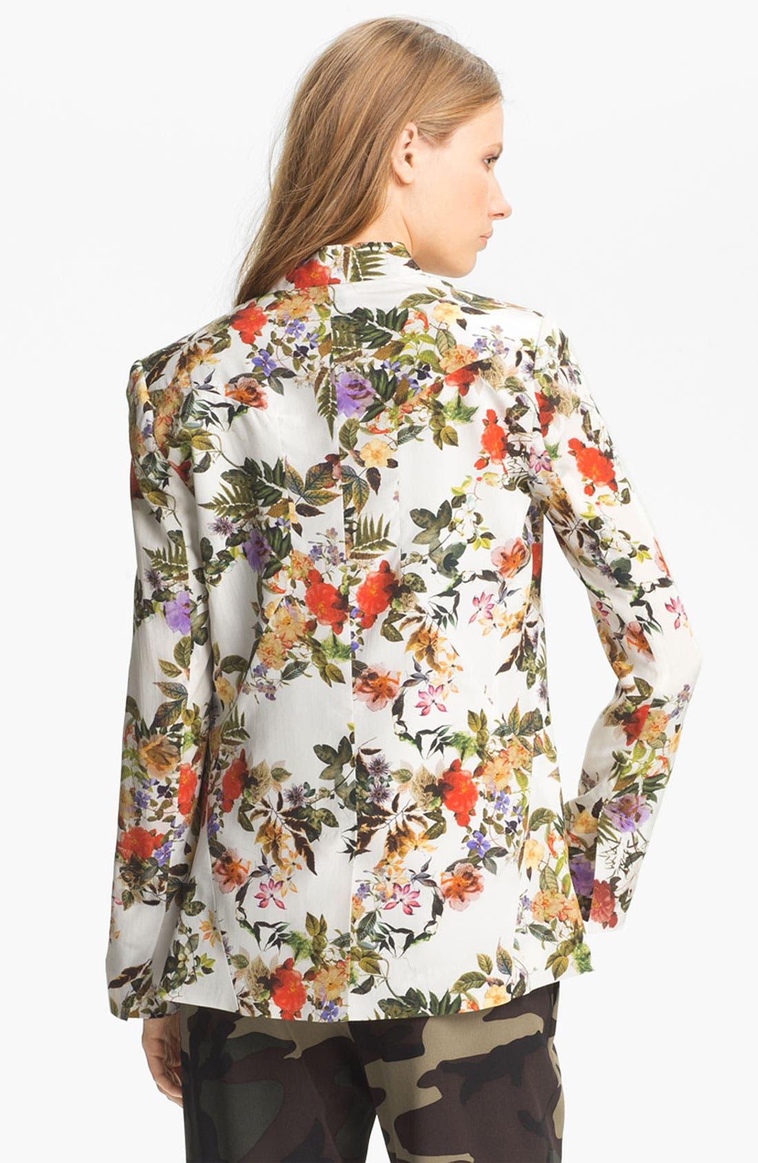 Alternate Image 3  - Haute Hippie Floral Print Silk Blazer