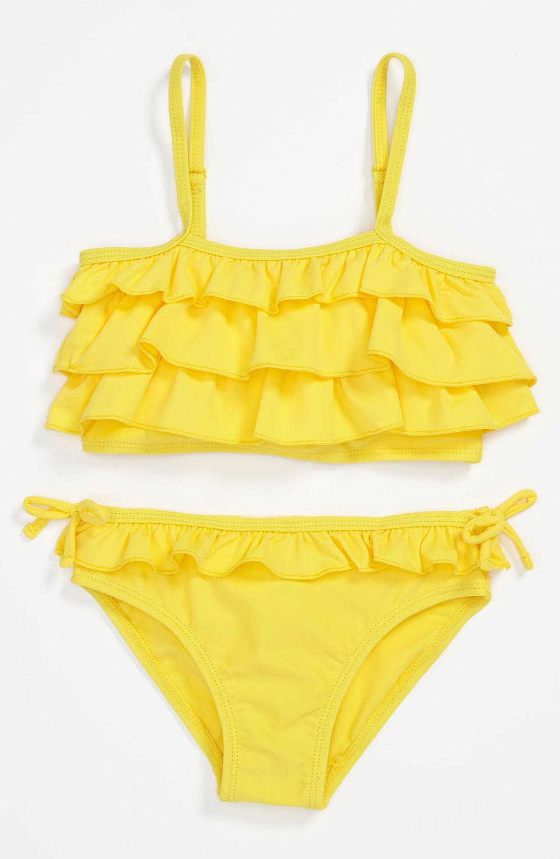 Main Image - Pumpkin Patch 'Frilled' Two-Piece Tankini Swimsuit (Little Girls & Big Girls)