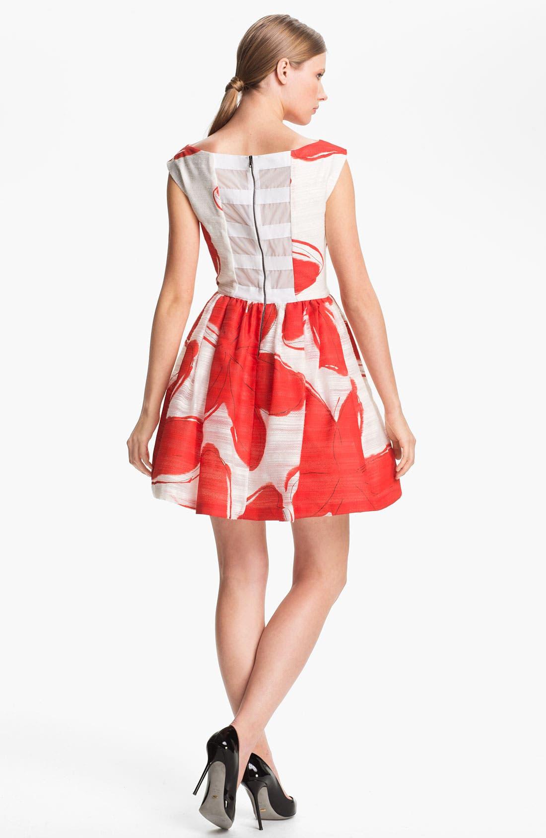 Alternate Image 2  - Alice + Olivia Print Dress