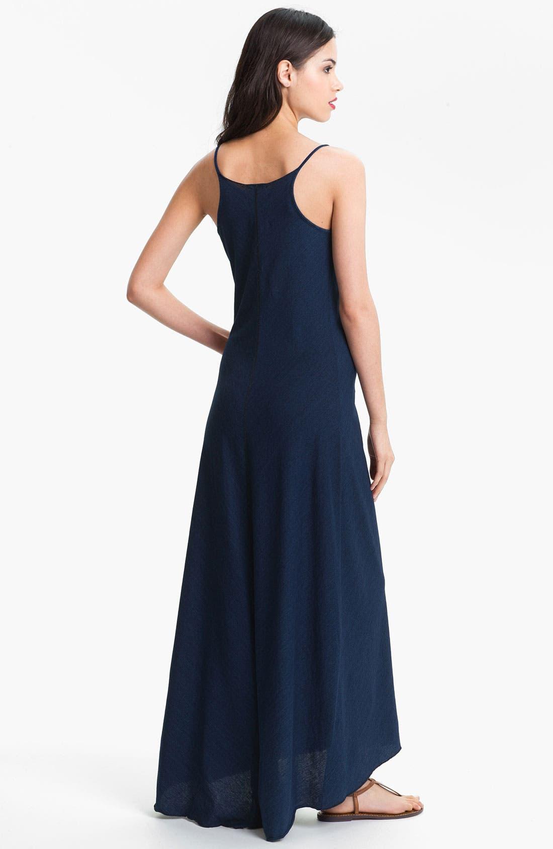 Alternate Image 2  - AG Jeans Indigo Jersey Maxi Dress