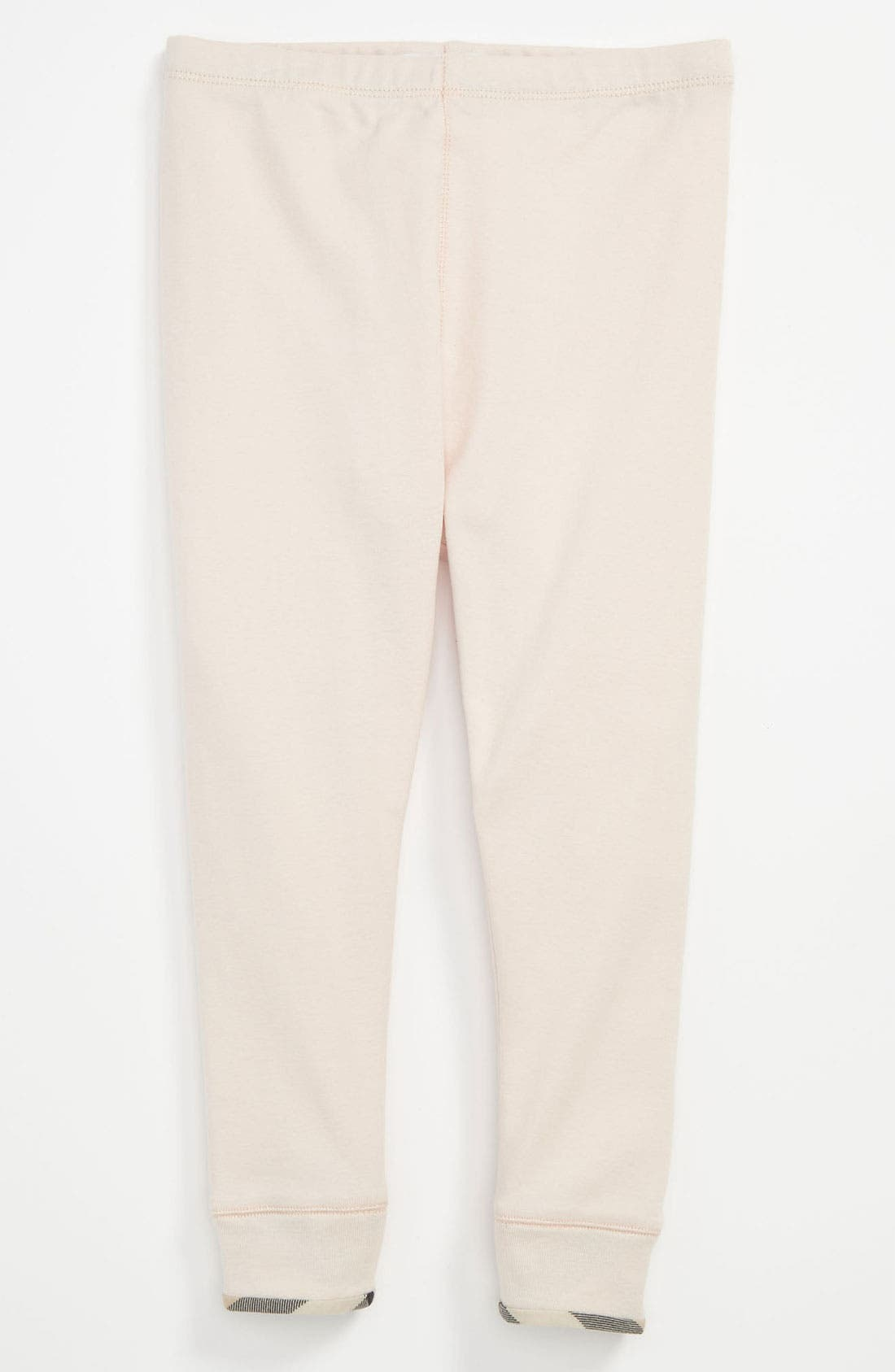 Alternate Image 1 Selected - Burberry 'Penny' Cuff Leggings (Baby Girls)