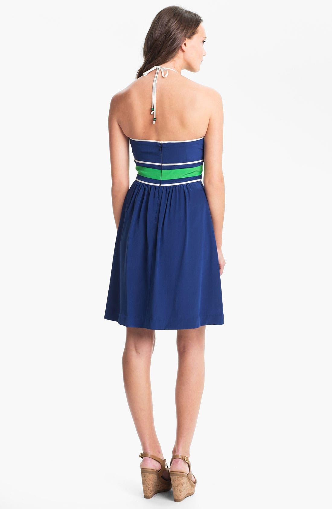 Alternate Image 2  - Trina Turk 'Volly' Surplice Silk Halter Dress