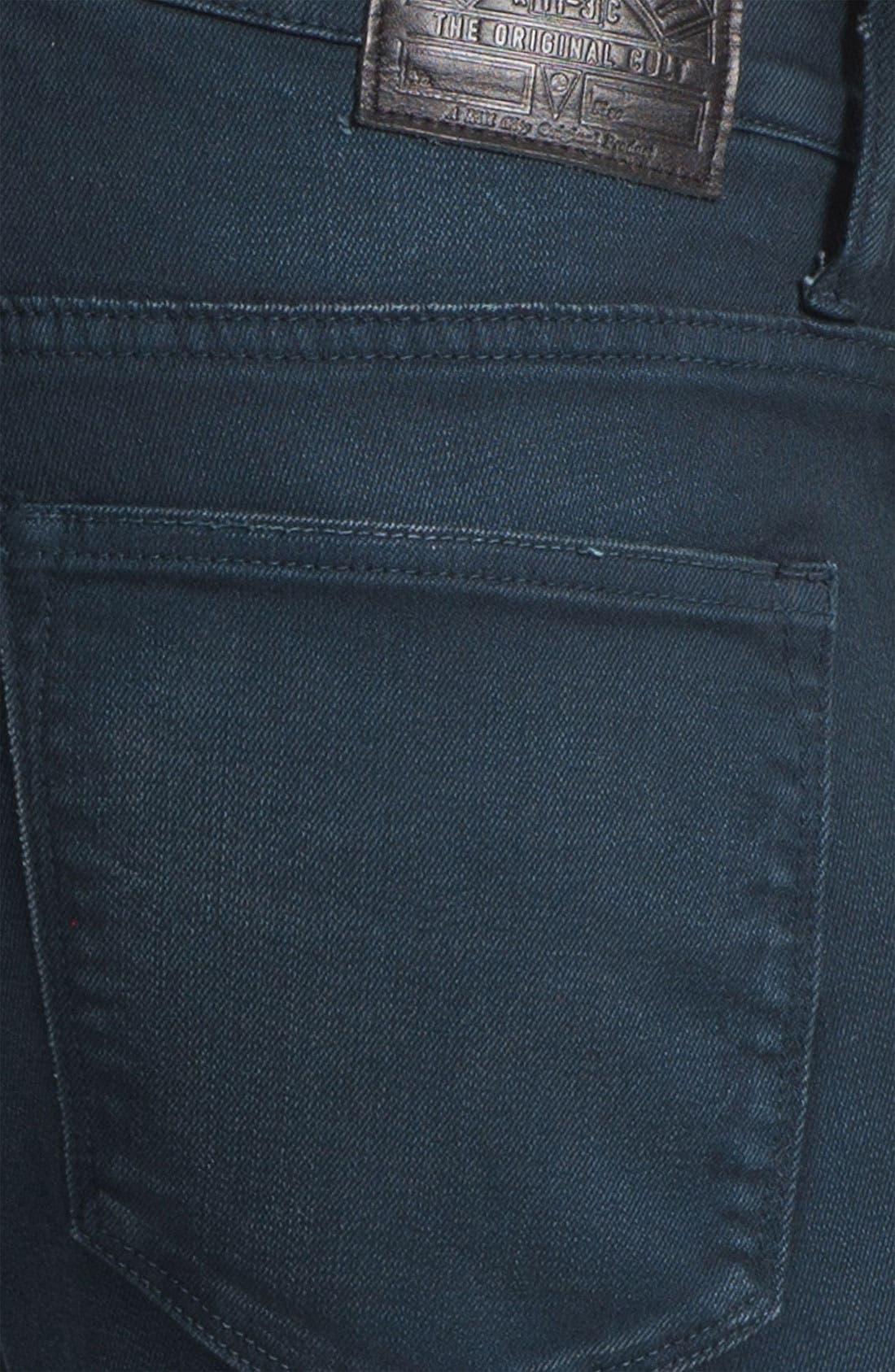 Alternate Image 4  - Kill City 'Wire' Slim Skinny Leg Jeans (Navy)