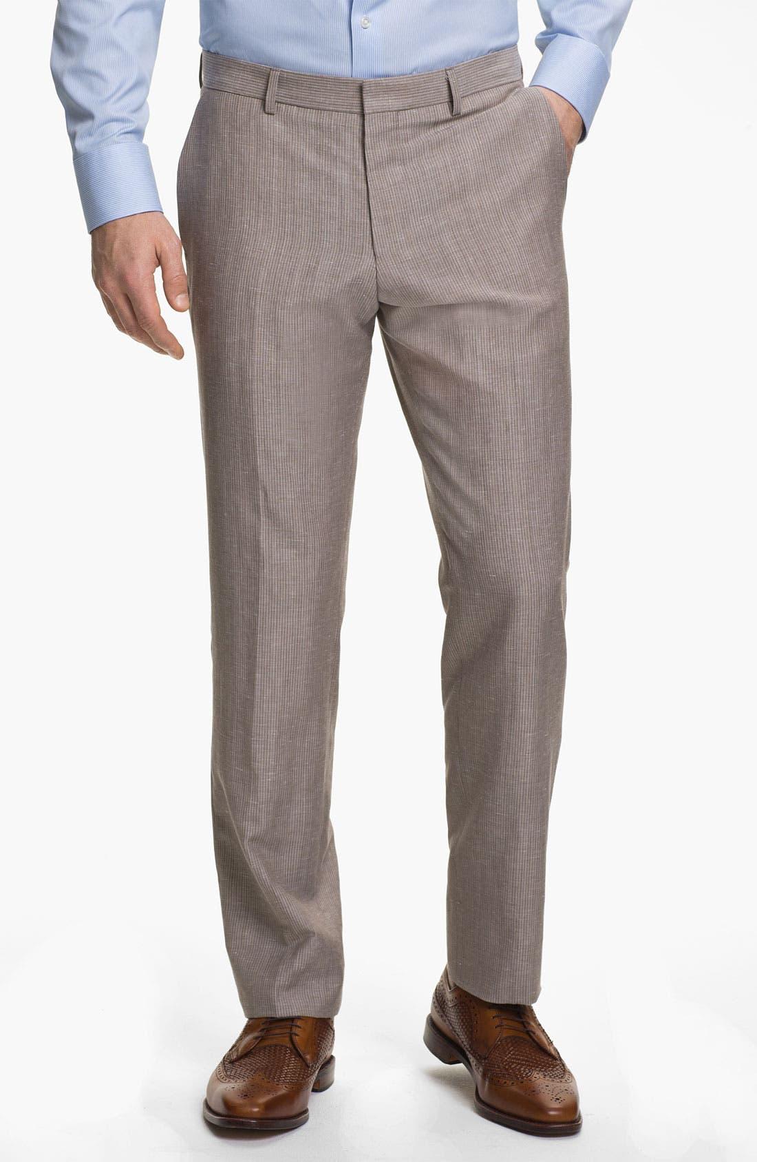 Alternate Image 4  - BOSS Black 'Hedge/Gense' Trim Fit Stripe Suit