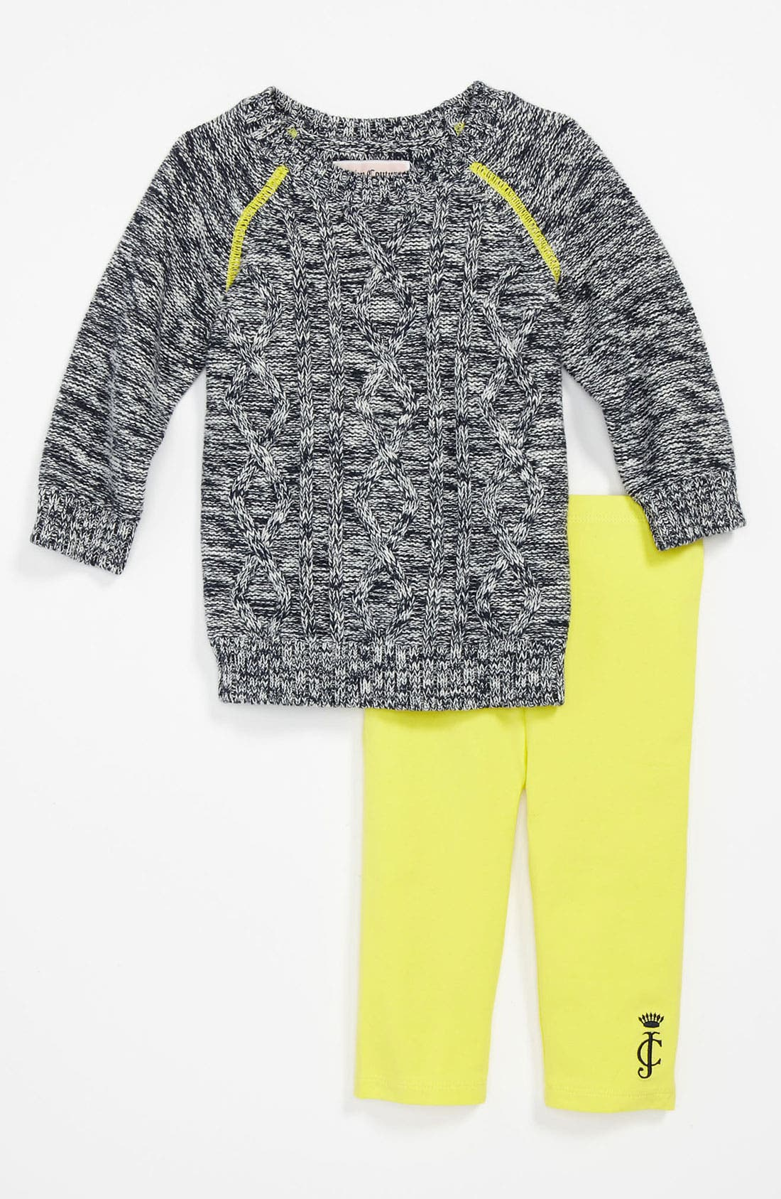 Alternate Image 1 Selected - Juicy Couture Sweater & Leggings (Infant)