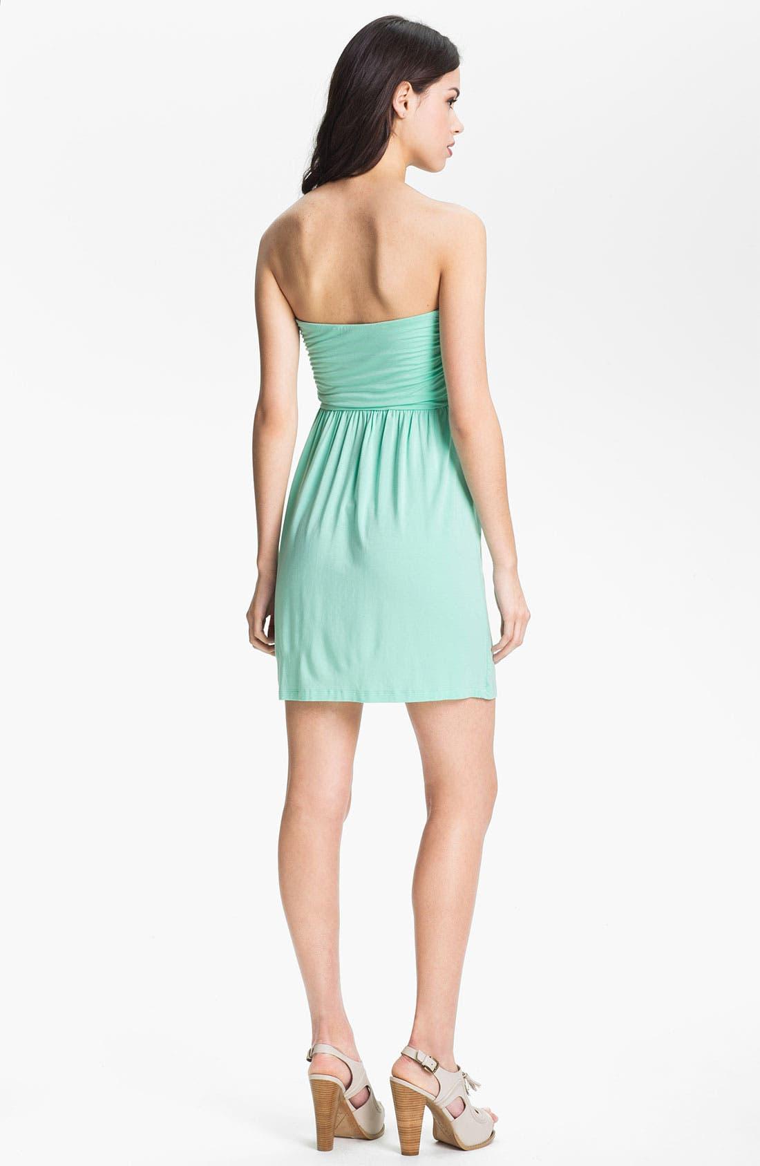 Alternate Image 2  - Tart 'Faith' Strapless Ruched Jersey Dress