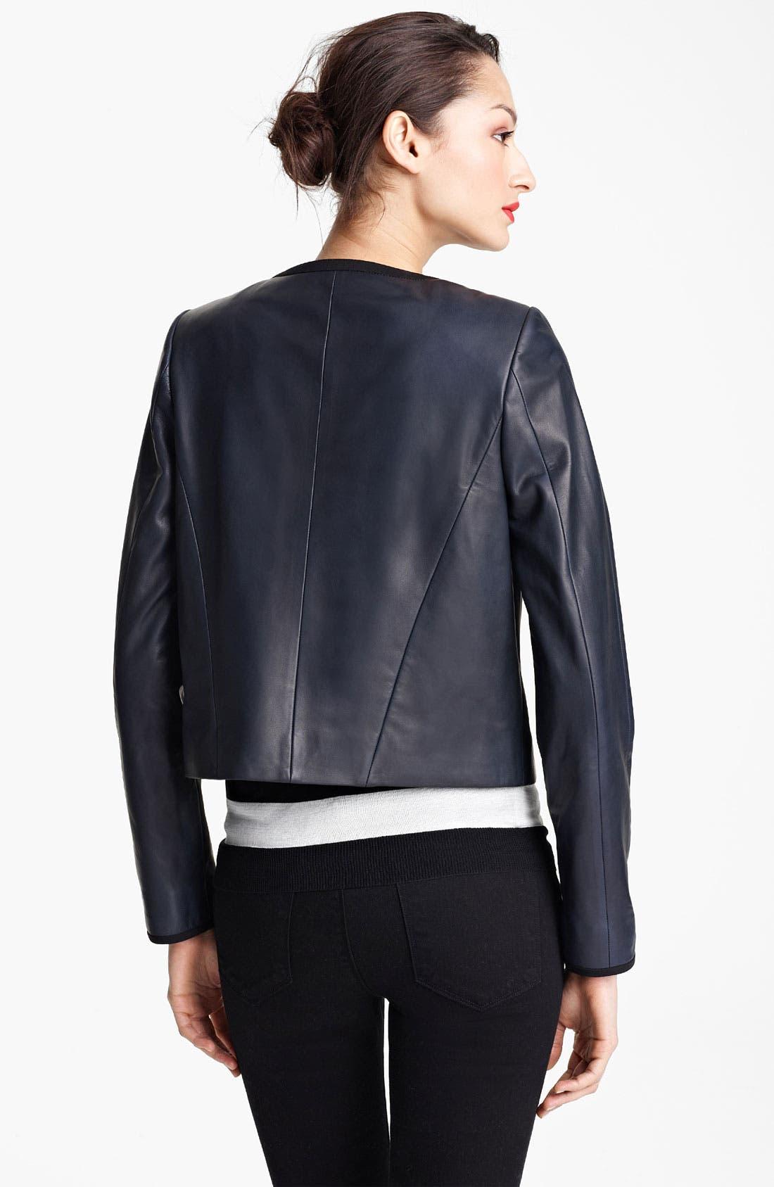 Alternate Image 2  - Jason Wu Nappa Leather Jacket