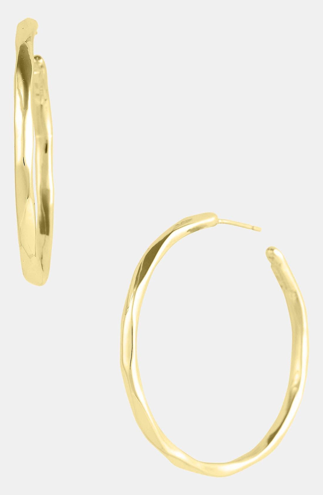 Alternate Image 1 Selected - Ippolita 'Glamazon - Number 3' Faceted 18k Gold Hoop Earrings