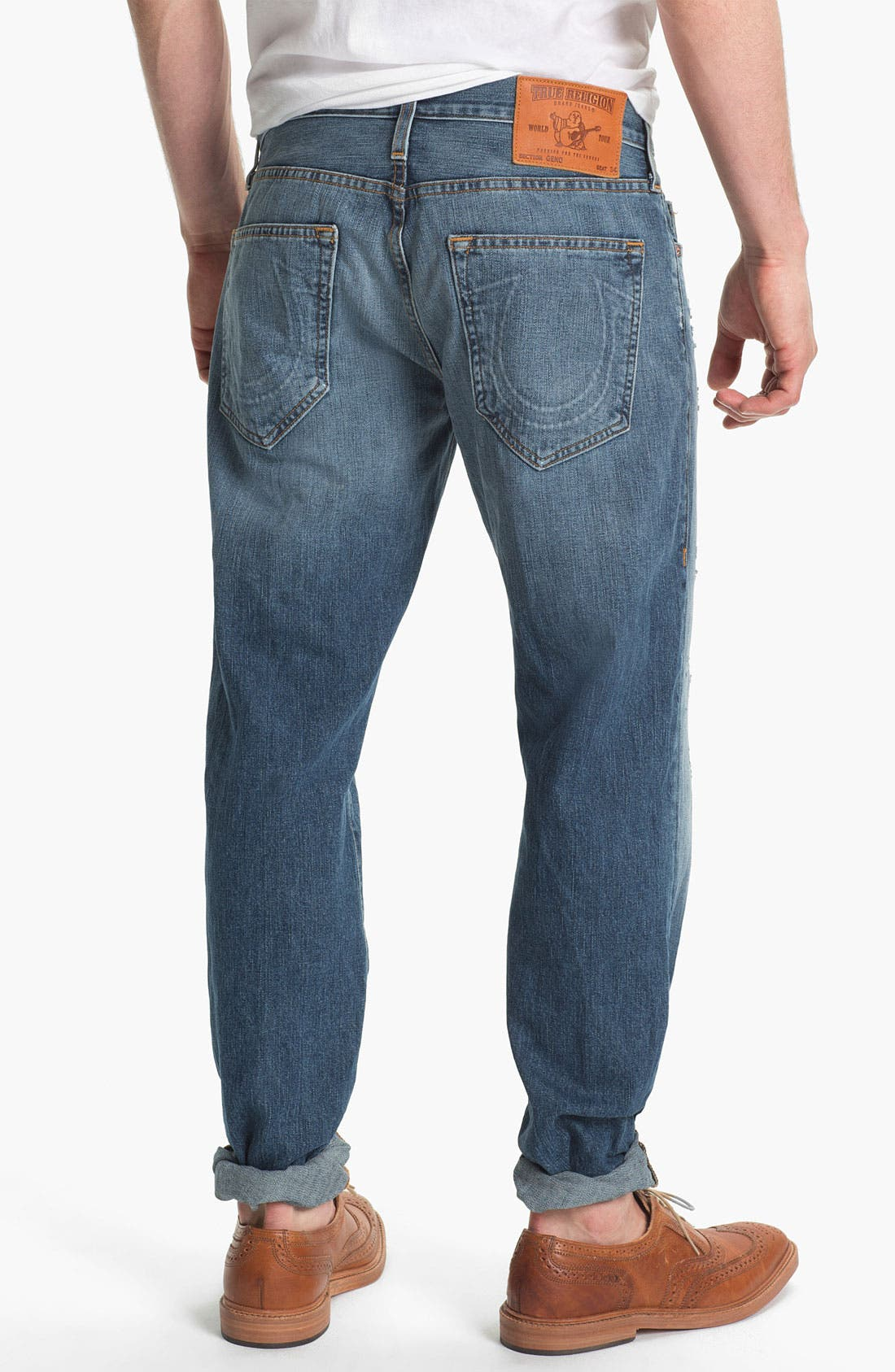 Alternate Image 1 Selected - True Religion Brand Jeans 'Geno 1971' Slim Straight Leg Jeans (Sepulvada)