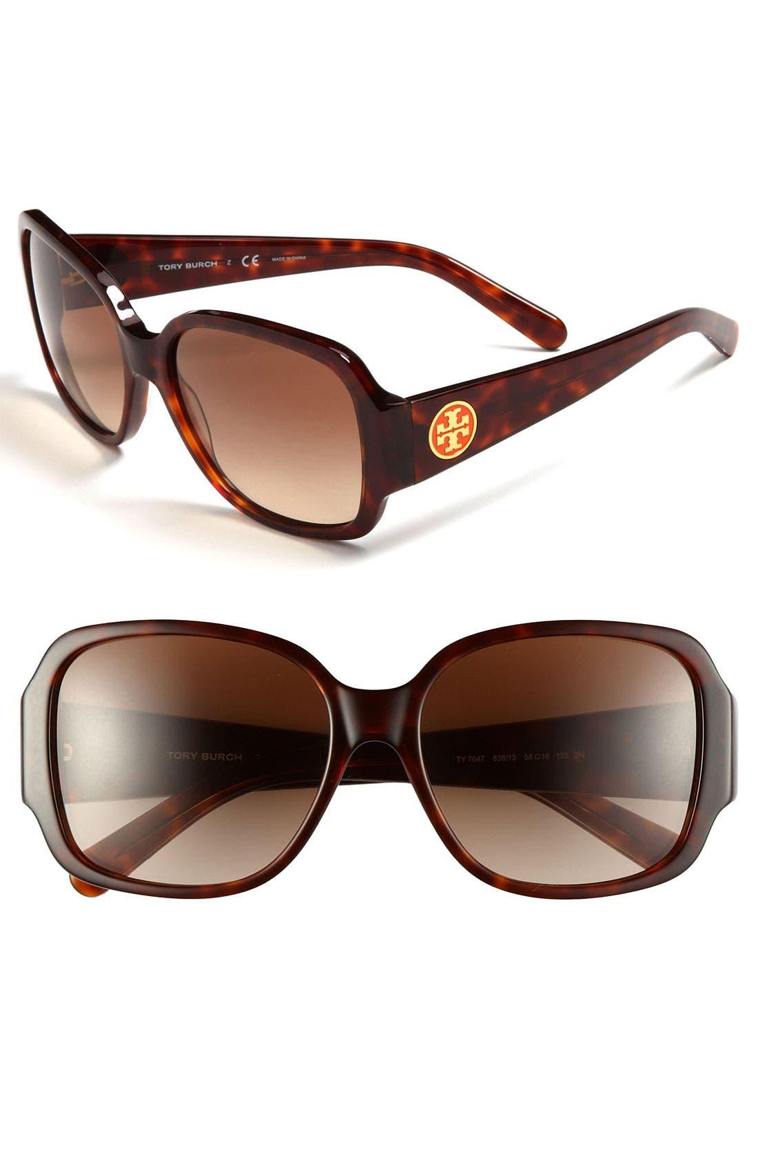 Main Image - Tory Burch 'Glam' 58mm Sunglasses