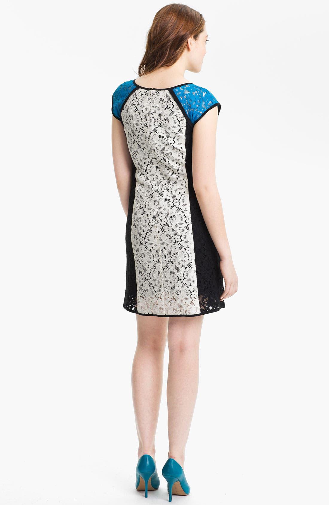 Alternate Image 2  - Nanette Lepore 'Magic Moment' Cotton Blend Shift Dress