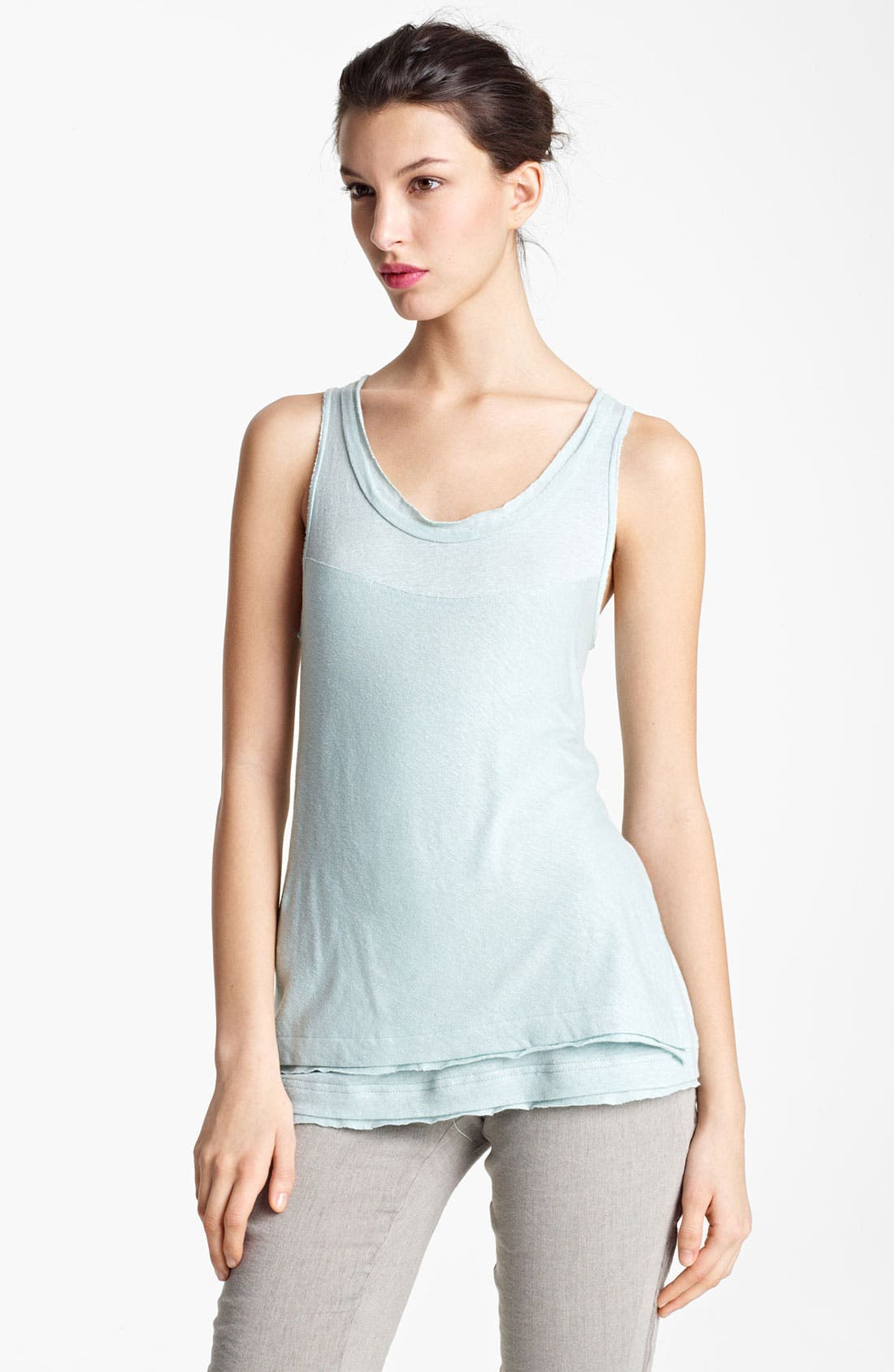 Alternate Image 1 Selected - Donna Karan Collection Linen Jersey Tank