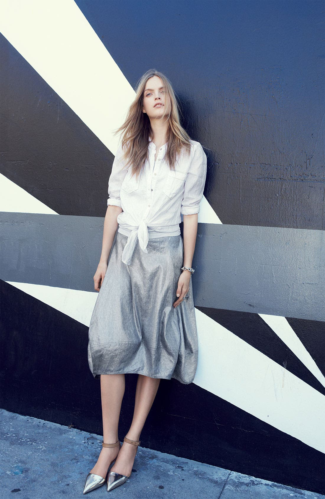 Alternate Image 7  - Eileen Fisher Stretch Linen Blend Lantern Skirt