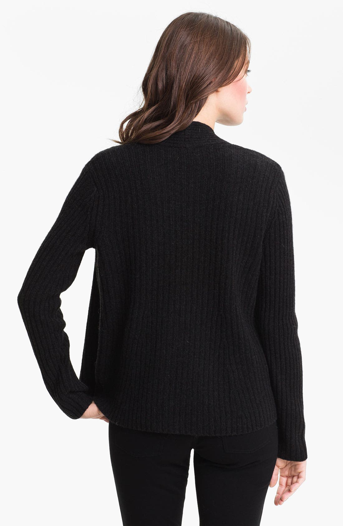 Alternate Image 2  - Eileen Fisher Open Front Ribbed Cardigan