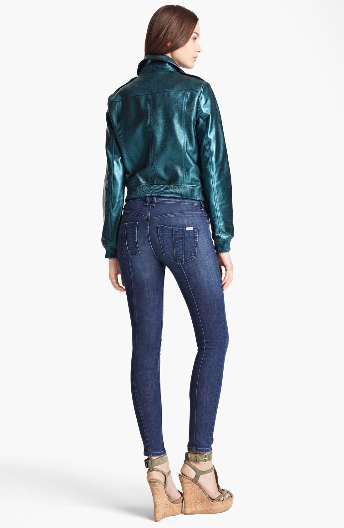 Alternate Image 5  - Burberry Brit 'Stantonbury' Leather Jacket (Online Only)
