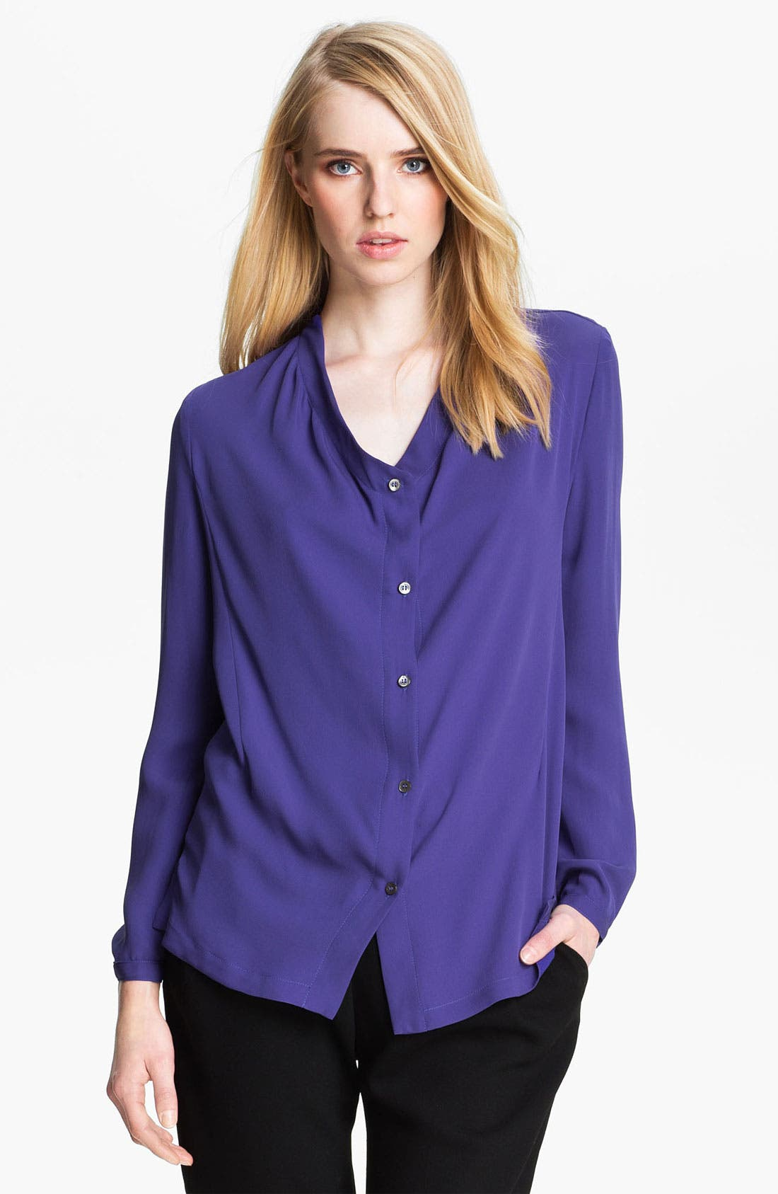 Alternate Image 1 Selected - Halston Heritage Silk Blouse
