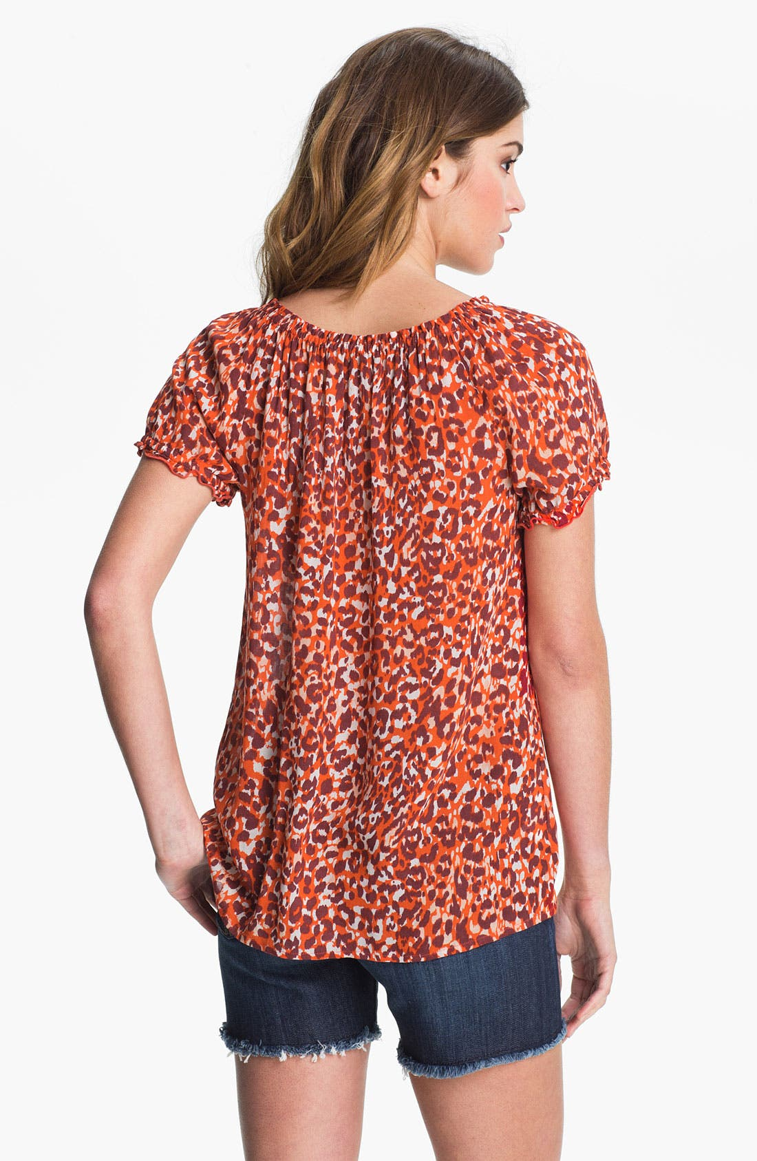 Alternate Image 2  - Lucky Brand 'Safi - Mayan Cheetah' Blouse (Online Exclusive)