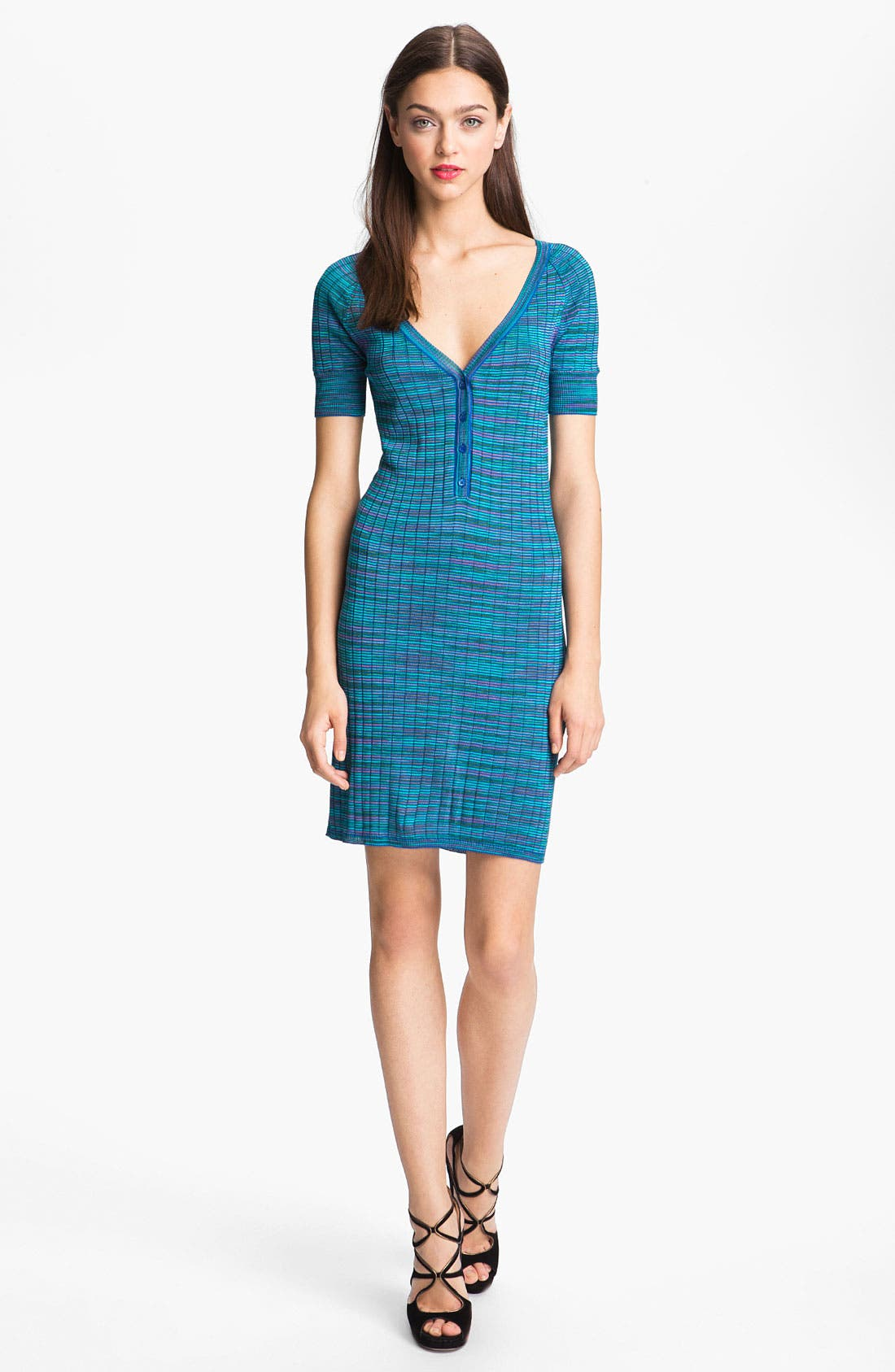 Main Image - M Missoni Space Dye Ribbed Henley Dress
