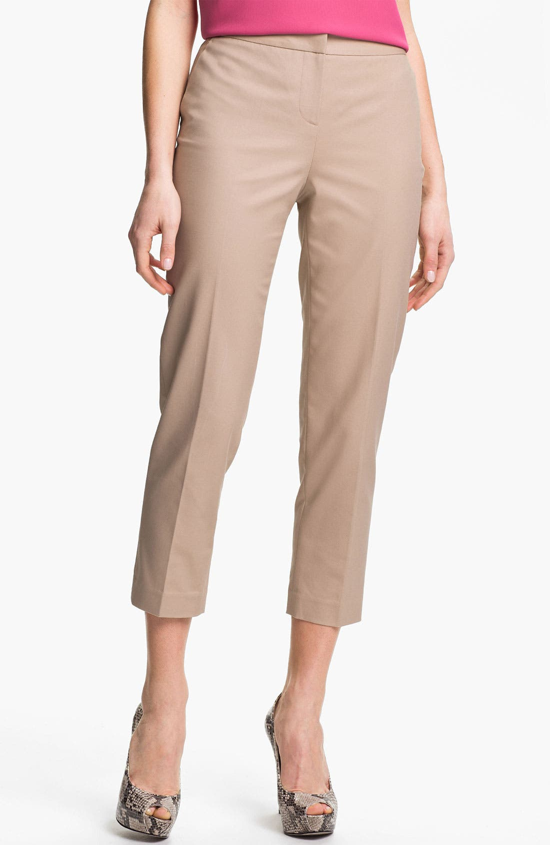 Alternate Image 1 Selected - Halogen® 'Taylor' Curvy Fit Crop Pants (Regular & Petite)