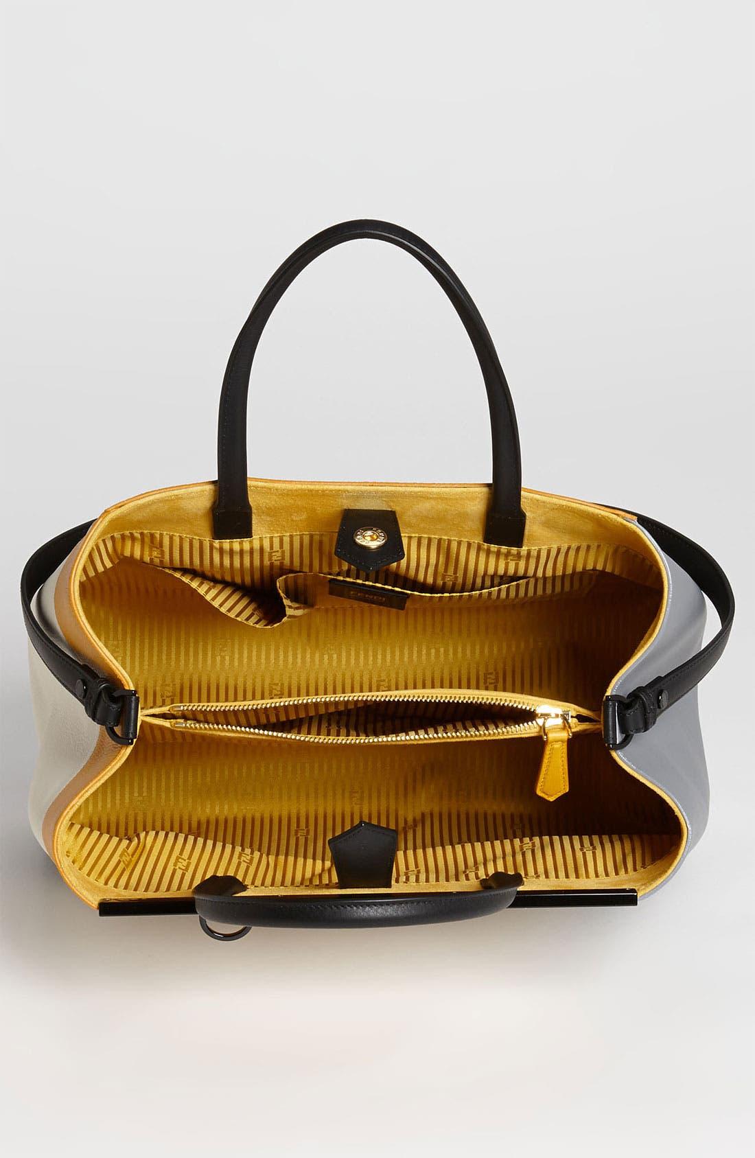 Alternate Image 3  - Fendi '2Jours 3D - Medium' Leather Shopper