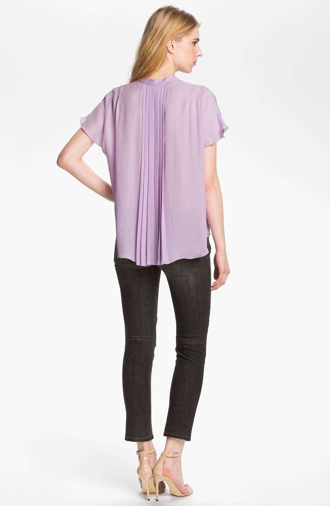 Alternate Image 4  - L'AGENCE Pleated Silk Blouse